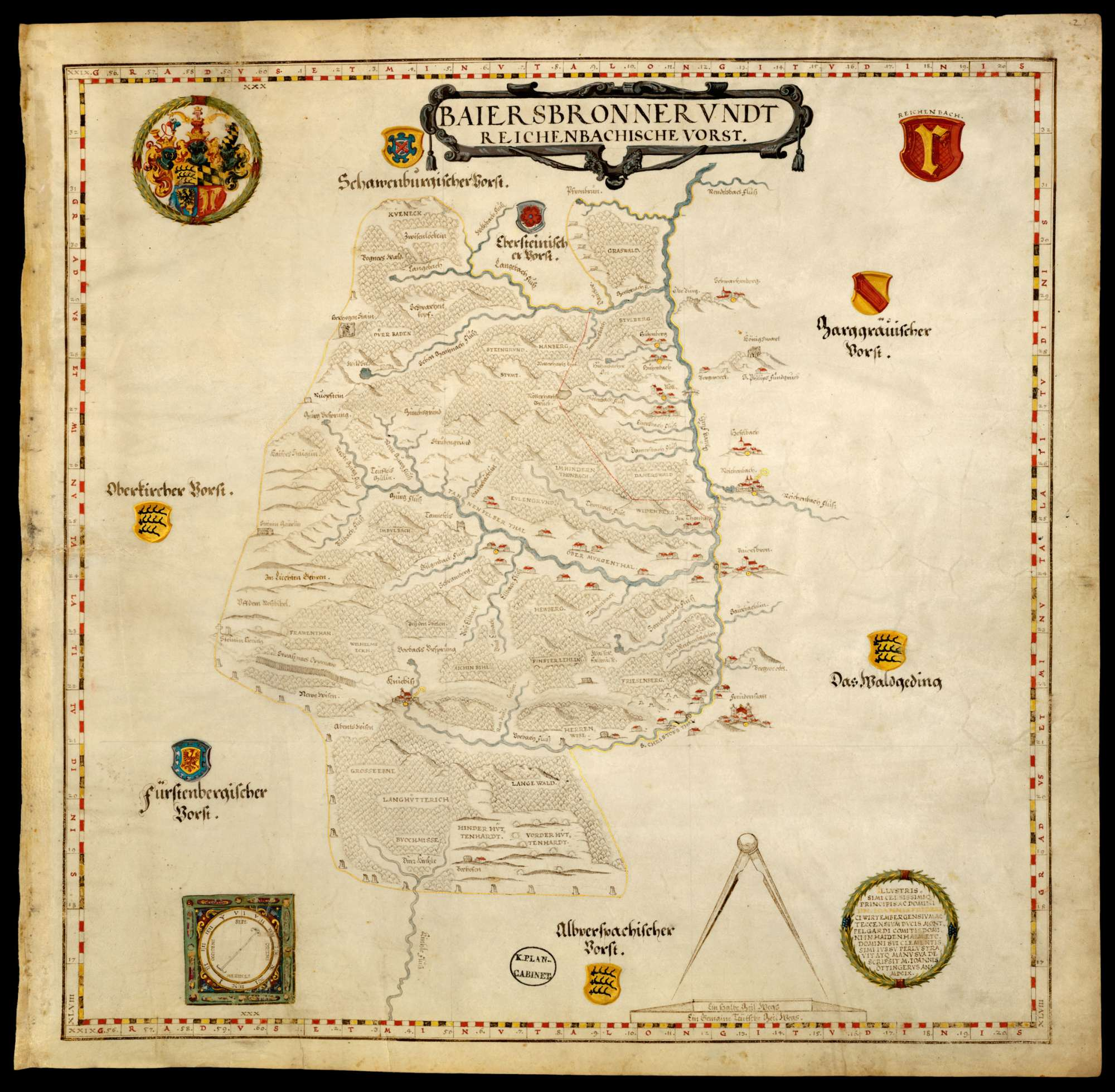 Bl. 27 r: Baiersbronner und Kloster Reichenbacher Forst, Bild 1