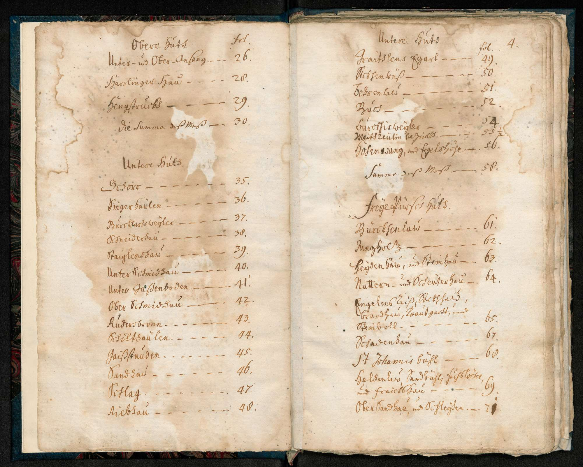 """""""Kloster Blaubeuren Mess- und Waldungs-Abriss-Buch de anno 1730"""", Bild 3"""
