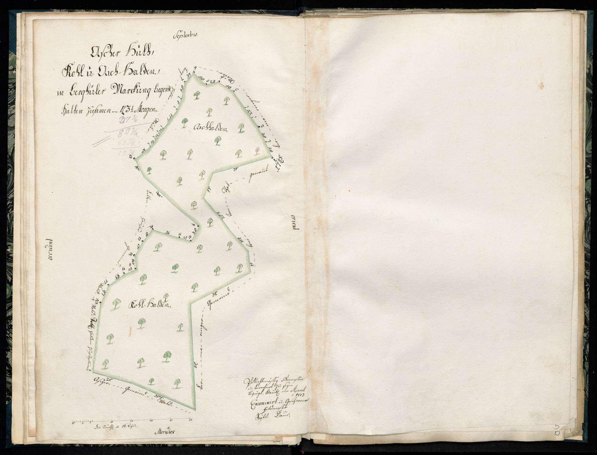 """""""Ascher Hut, Dobel Halden, in Berghüler Markung liegend"""", Bild 1"""