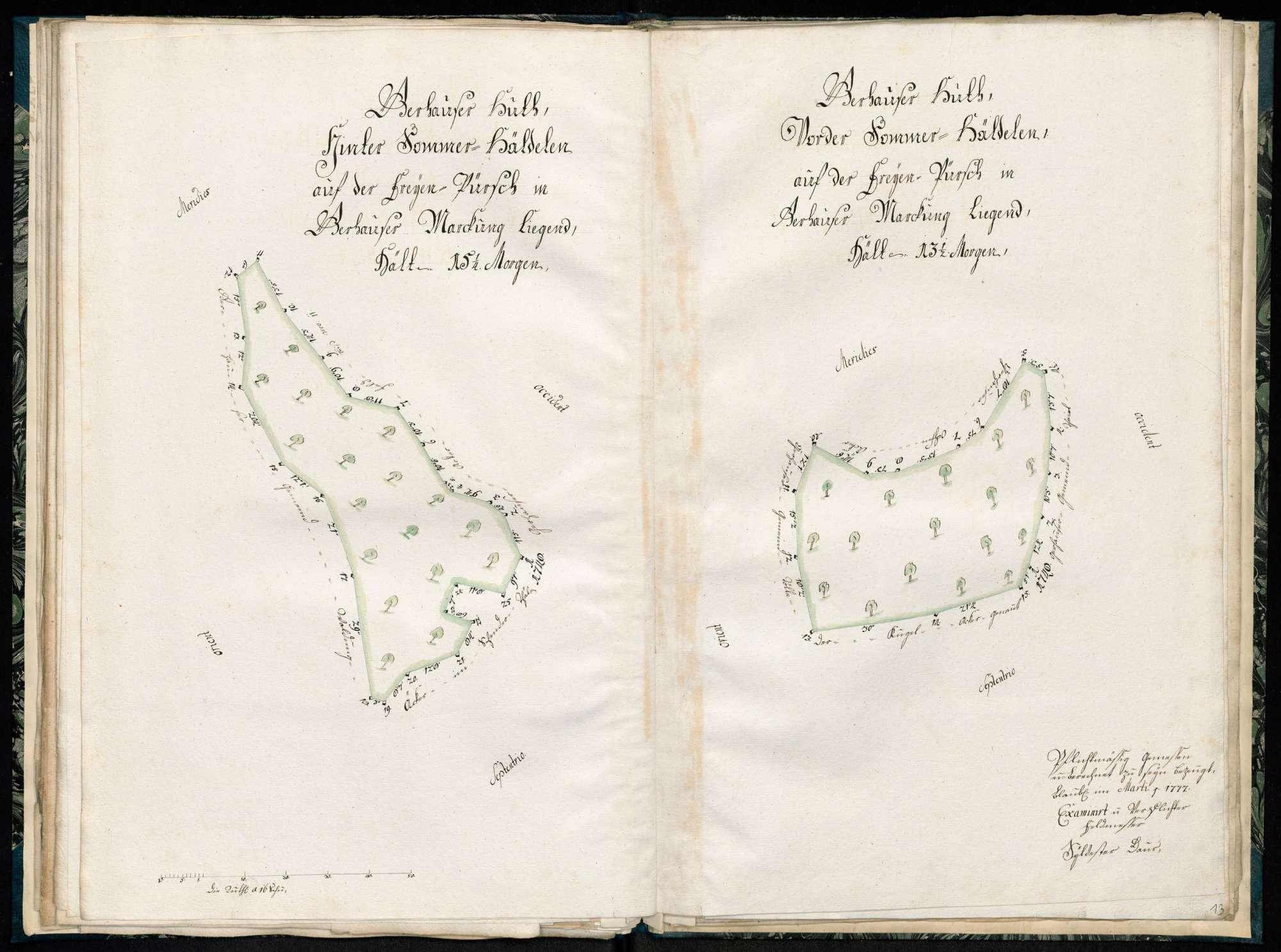 """""""Gerhauser Hut, Hellenparten oder hintere Aichhalden, liegt in Gerhauser Markung"""", Bild 1"""