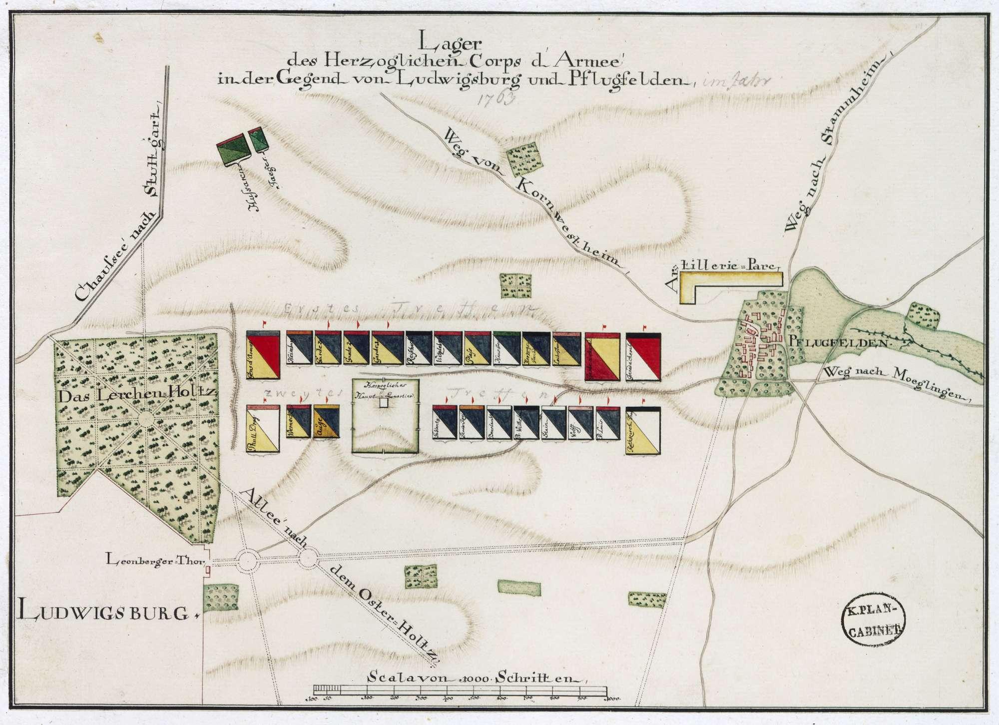 """""""Lager des Herzoglichen Corps d"""