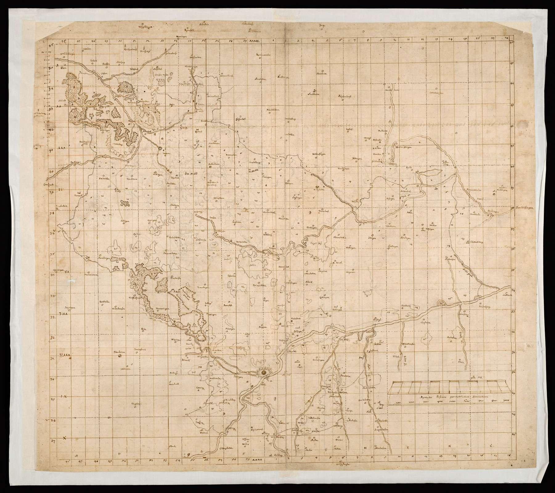 [Forstkarte der mittleren Alb zwischen Fils, Brenz und Donau samt deren rechten Nebenflüssen], Bild 1