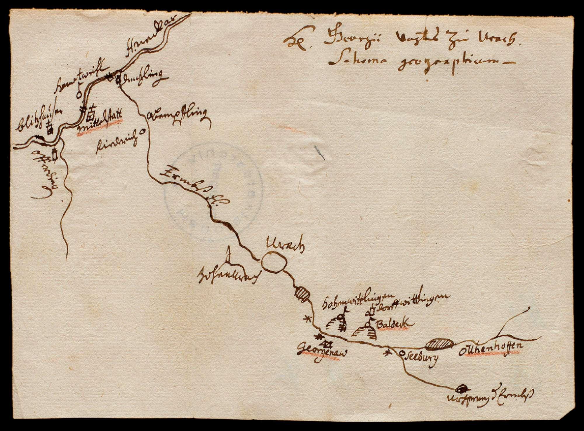[Die Erms vom Ursprung bis zur Mündung in den Neckar bei Neckartenzlingen], Bild 1