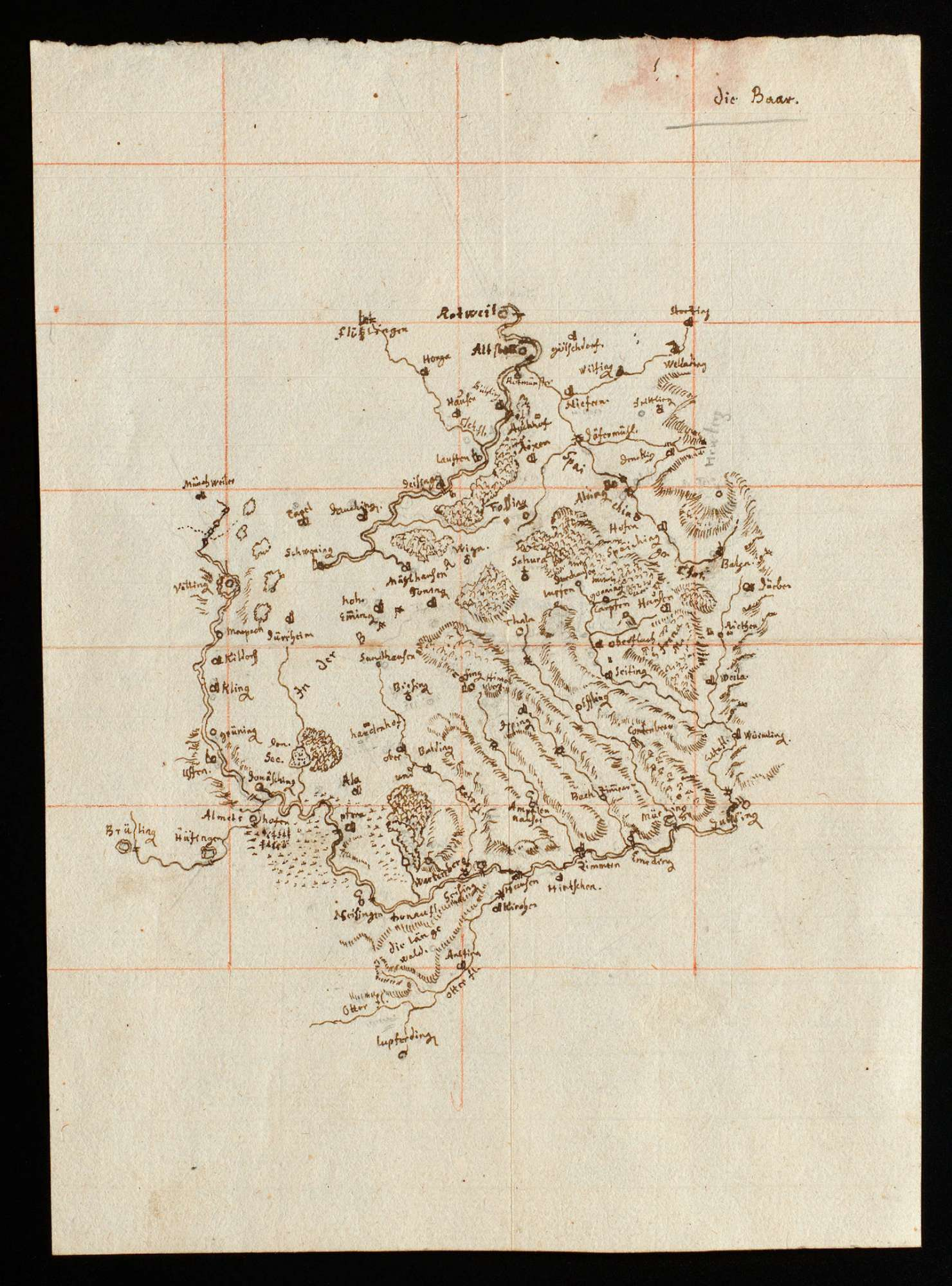[Karte der Baar], Bild 1