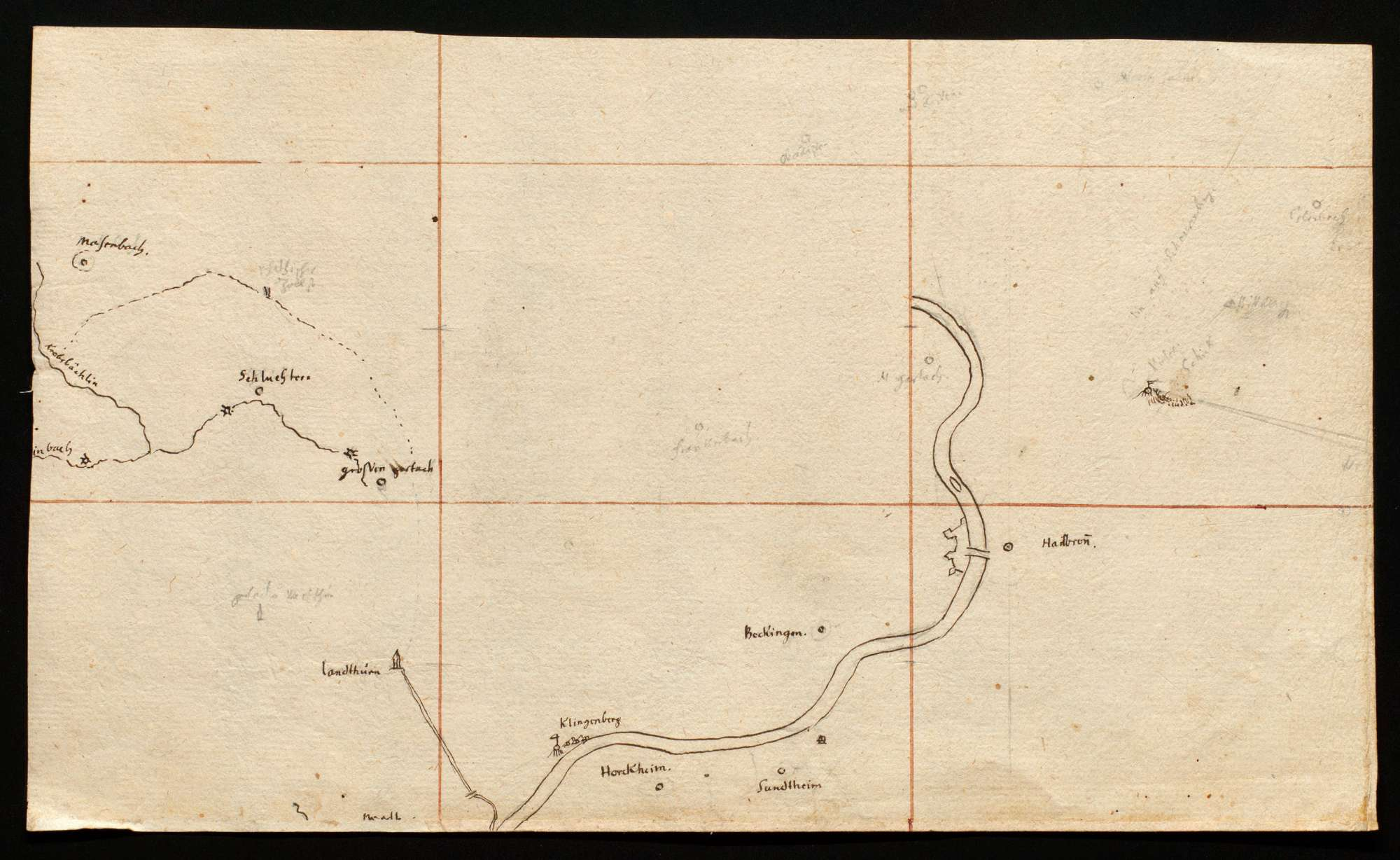 [Karte des Gebiets zwischen Neckar und Lein], Bild 1
