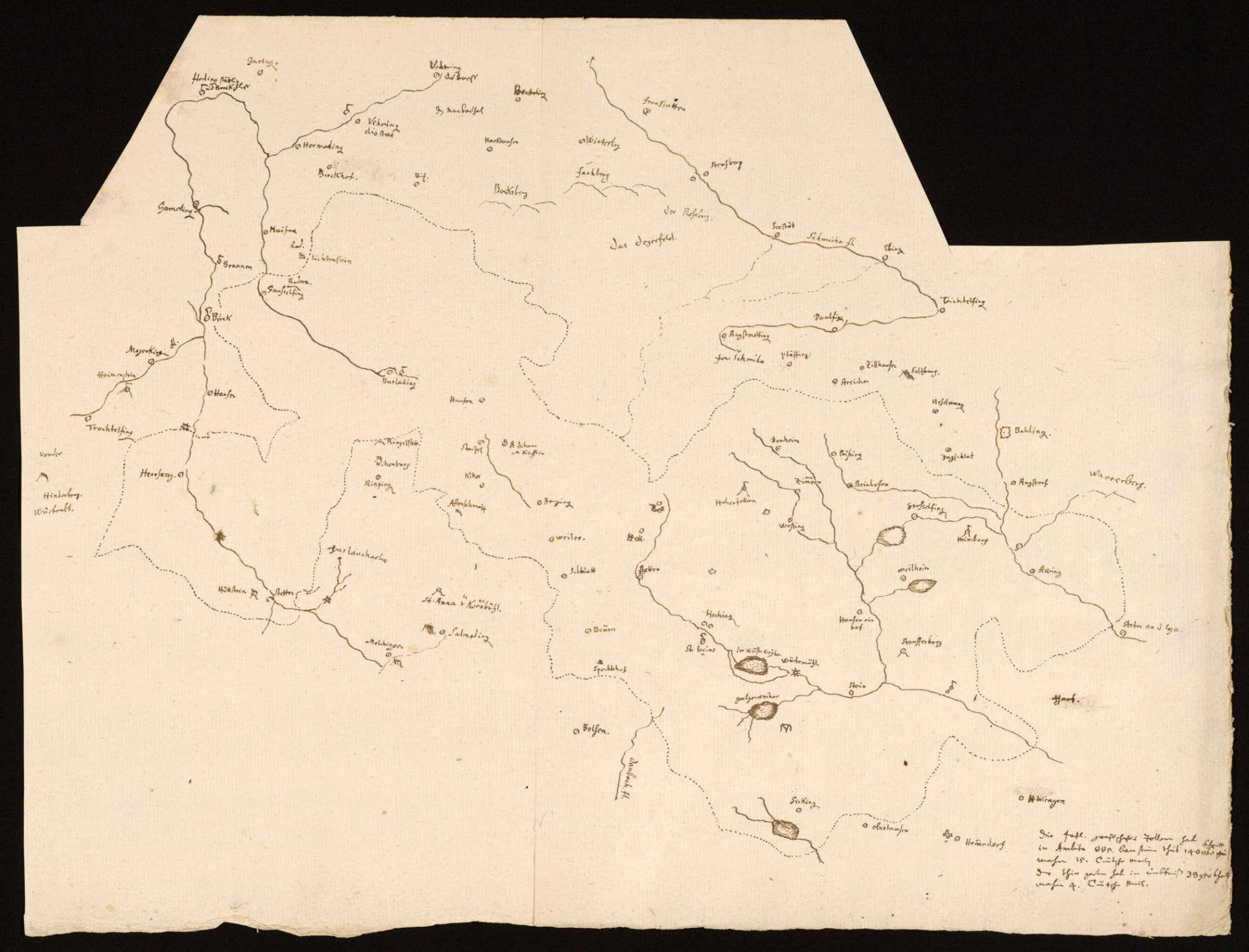 [Karte der Grafschaft Zollern mit dem Tiergarten], Bild 1