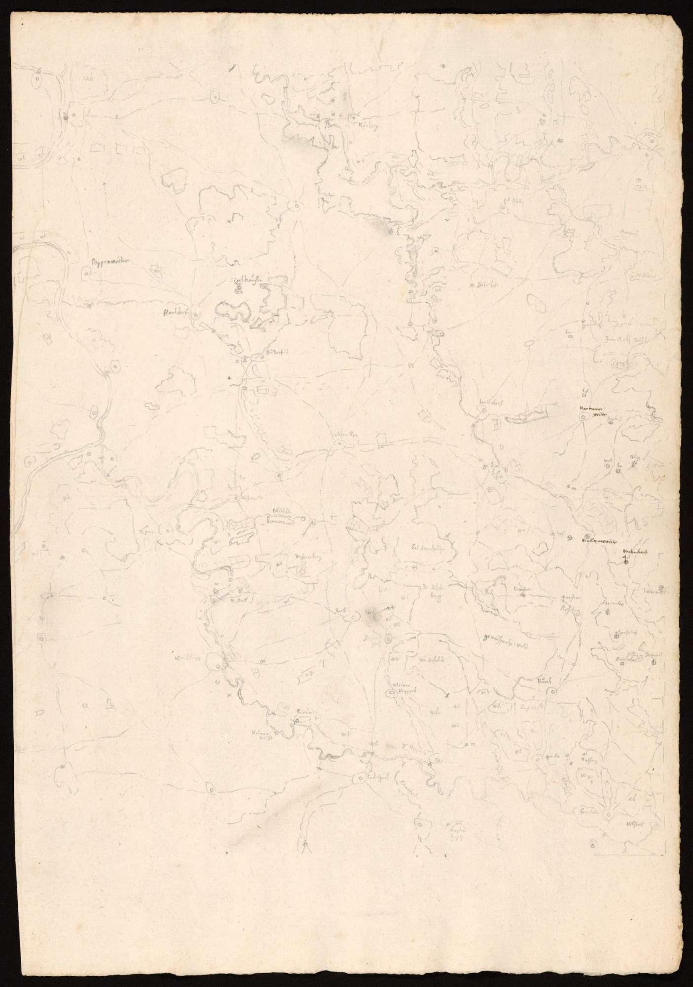 [Karte des Gebiets zwischen Rems, Neckar und Murr], Bild 1