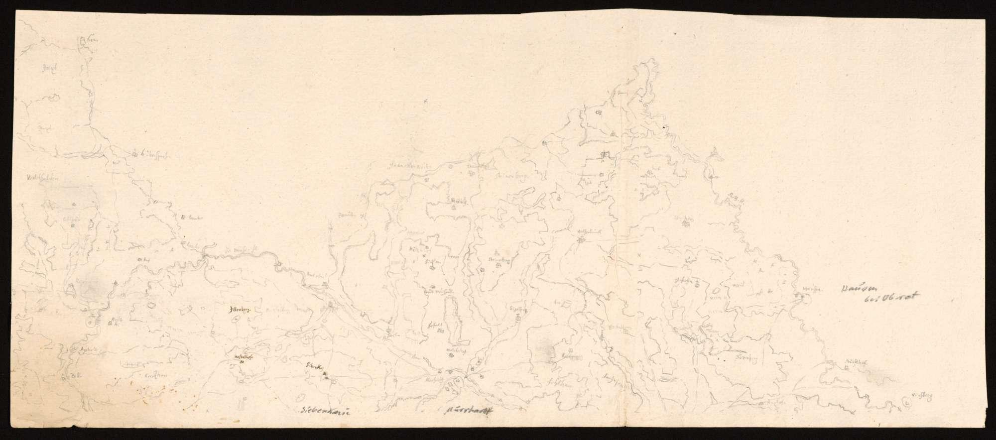 [Karte der Waldungen in den Löwensteiner Bergen und im Mainhardter Wald], Bild 1