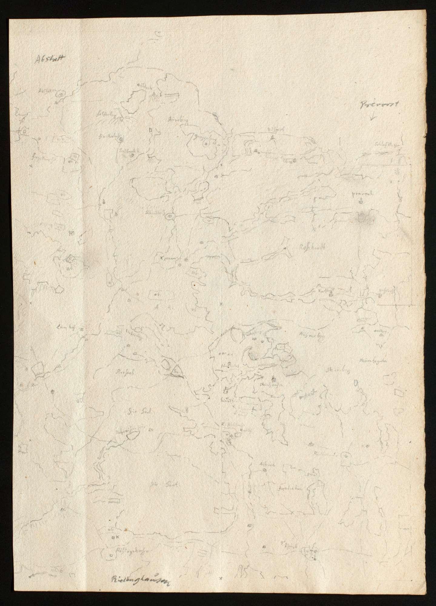 [Karte des Bottwartales und seiner Umgebung], Bild 1