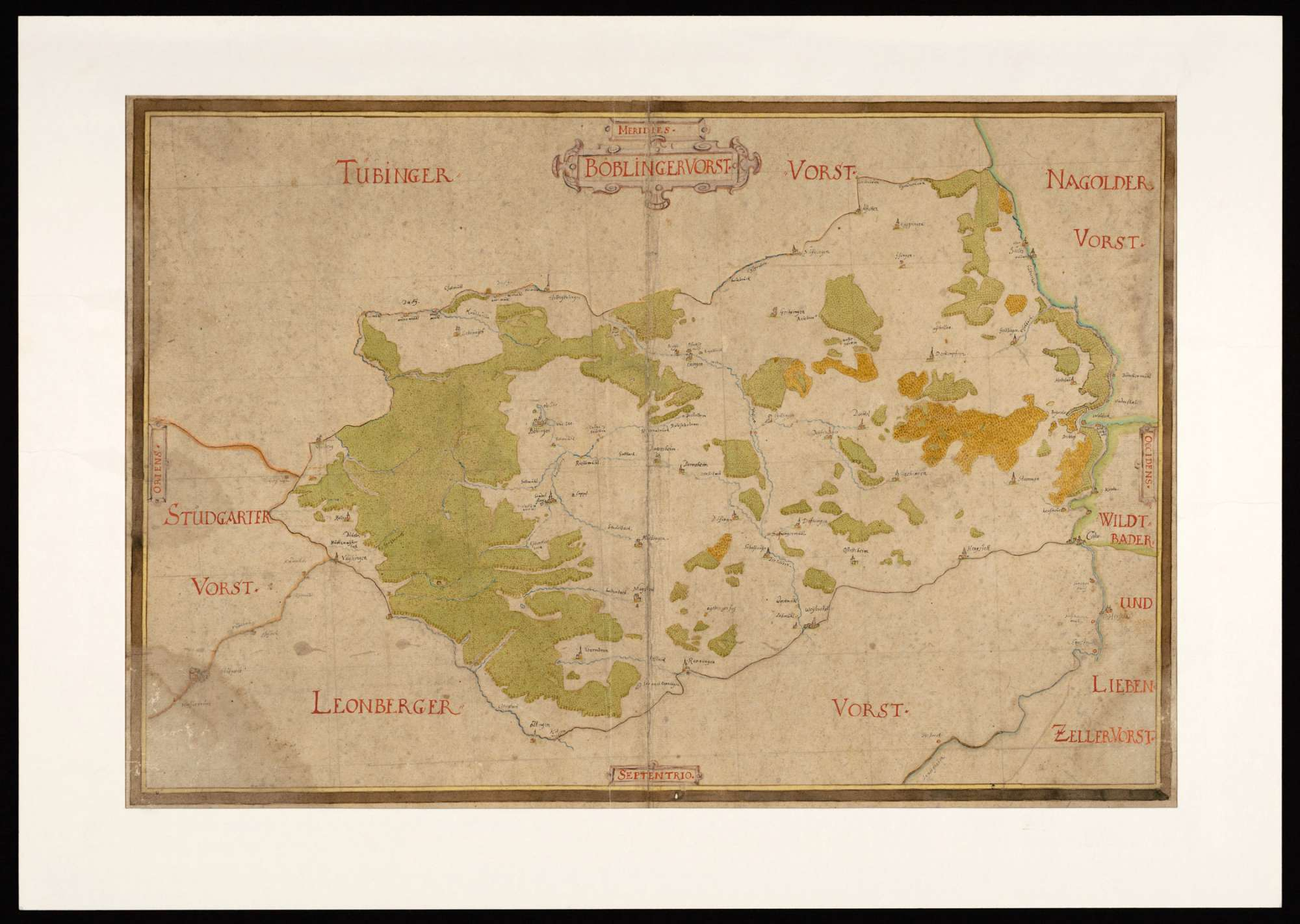 [Karte des Böblinger Forstes], Bild 1