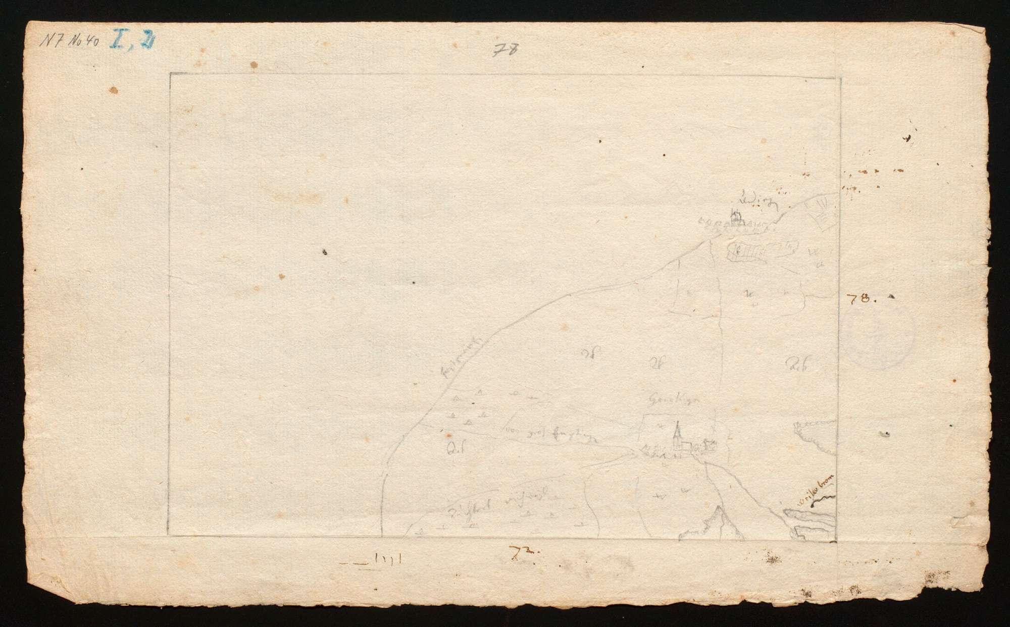 """[Karte des Tübinger Forsts in 50 Blättern (""""Tabellen"""")], Bild 1"""