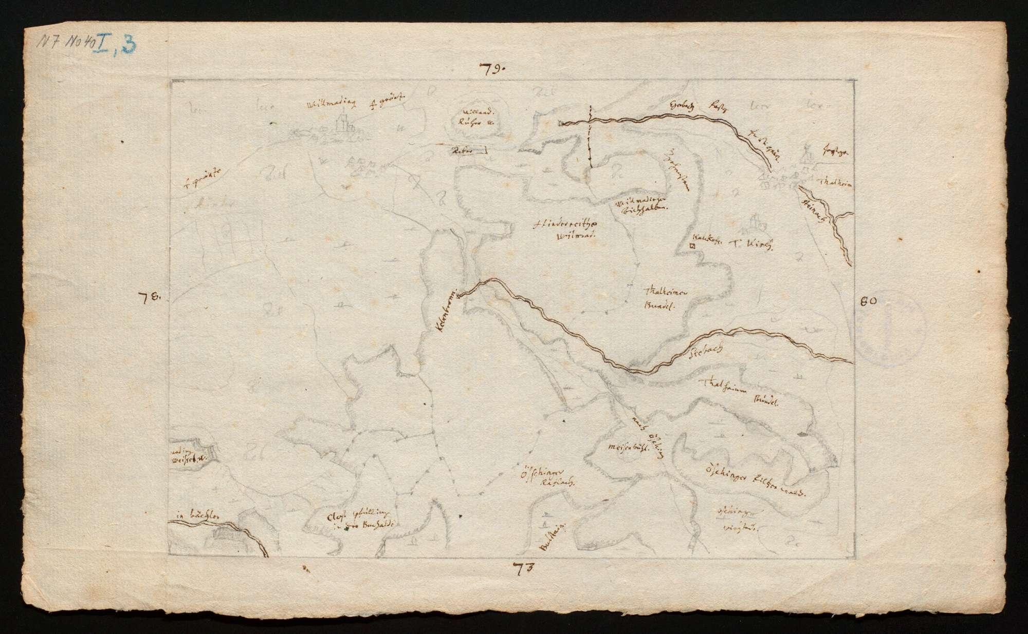 """[Karte des Tübinger Forsts in 50 Blättern (""""Tabellen"""")], Bild 2"""