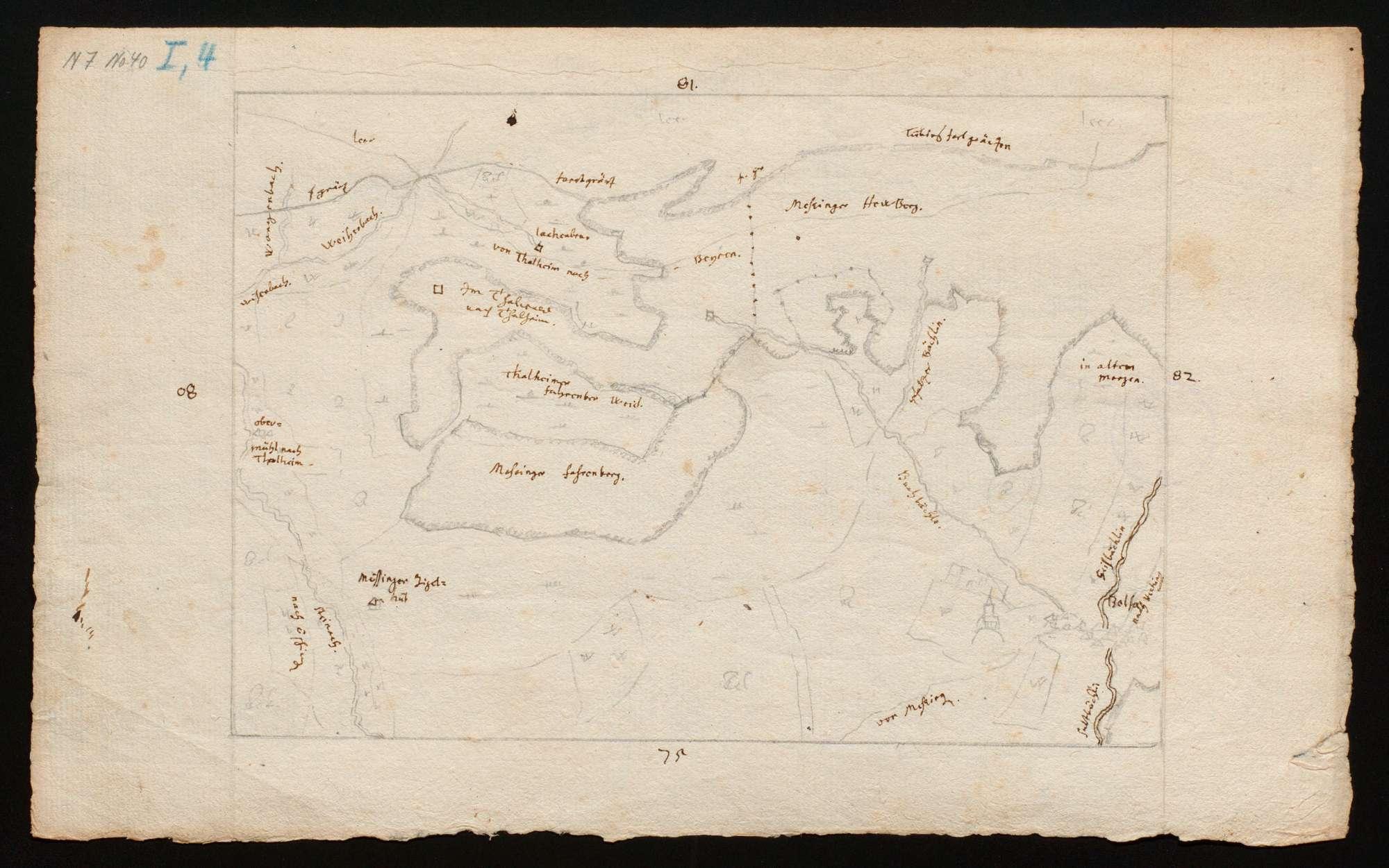 """[Karte des Tübinger Forsts in 50 Blättern (""""Tabellen"""")], Bild 3"""