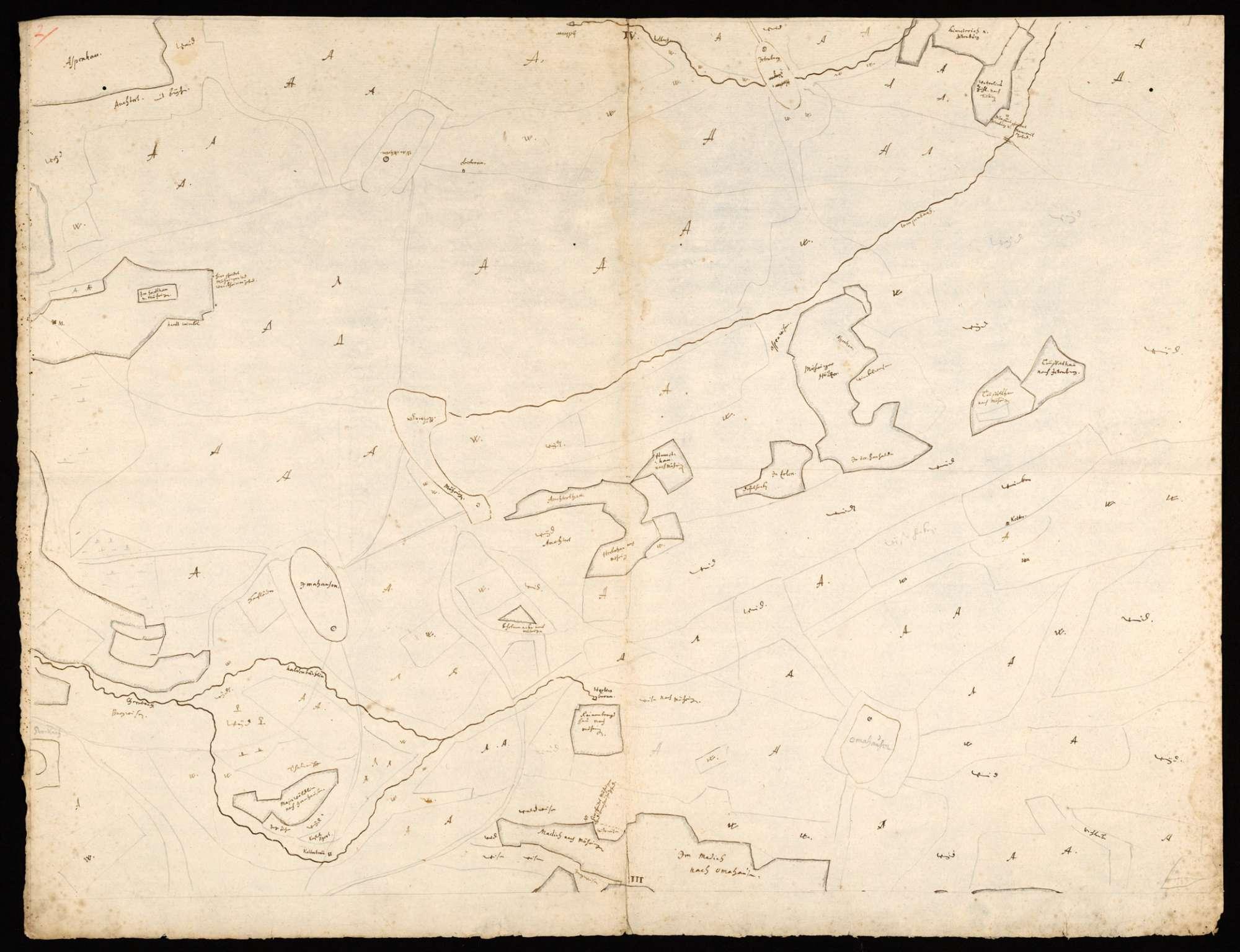 [Karte der Waldungen zwischen Steinlach, Neckar und Echaz, in 4 Blättern], Bild 2