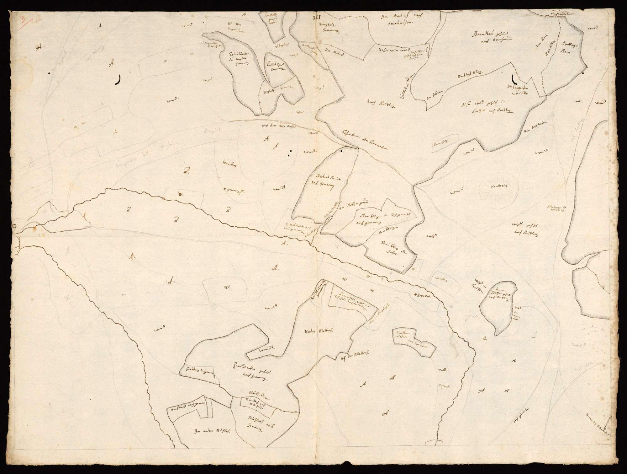 [Karte der Waldungen zwischen Steinlach, Neckar und Echaz, in 4 Blättern], Bild 3
