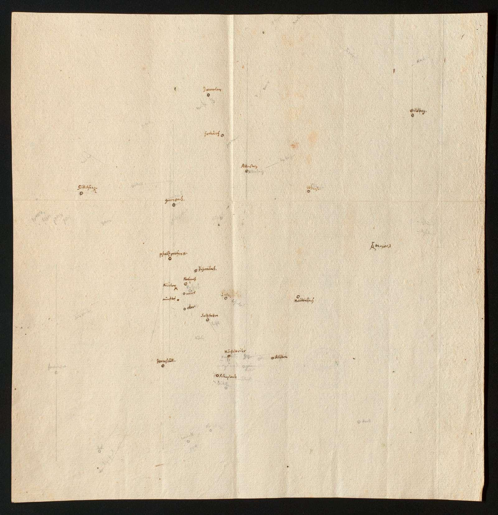 [Konzept zu einer Karte des Gebietes zwischen Murg und Nagold], Bild 1