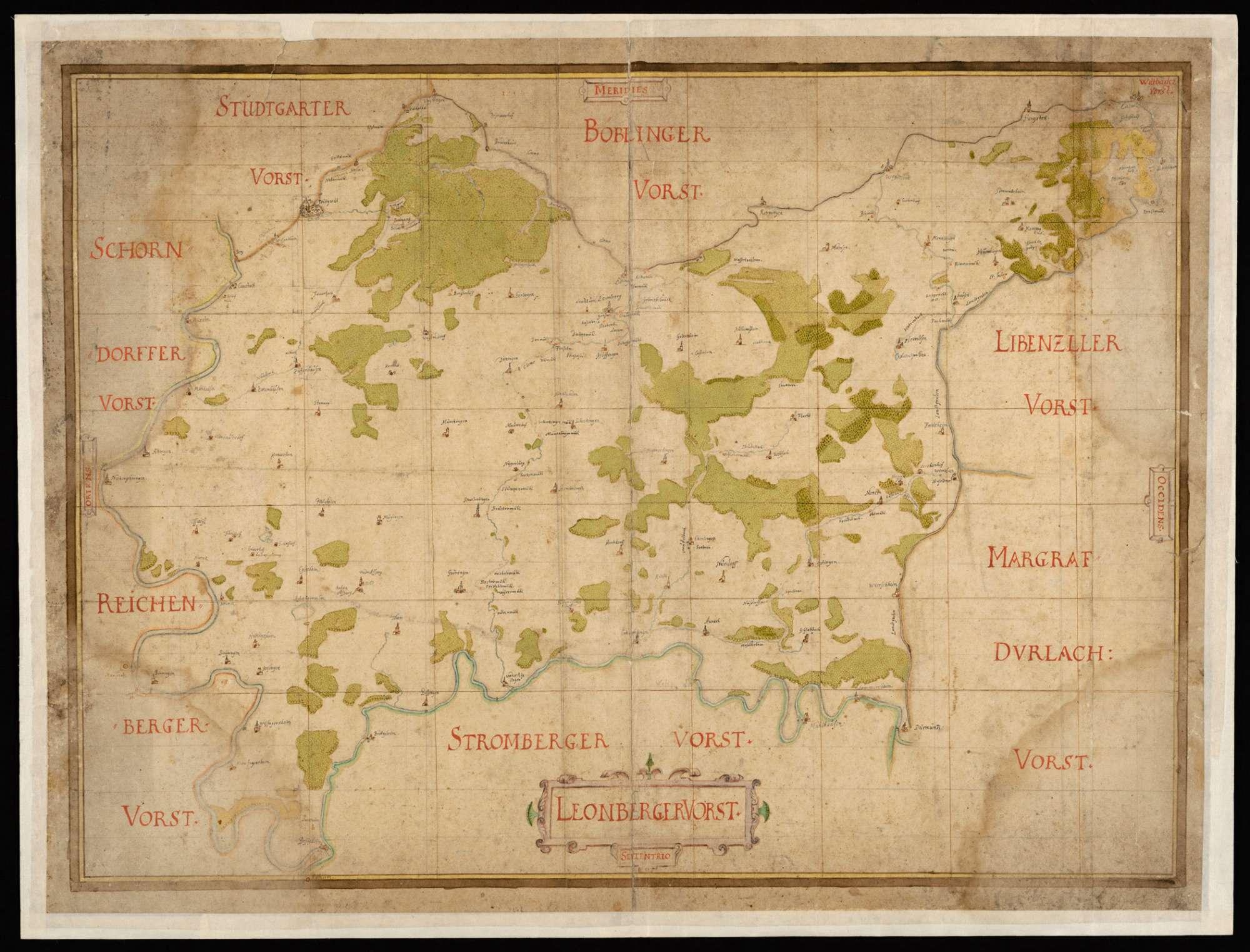 [Karte des Leonberger Forsts], Bild 1
