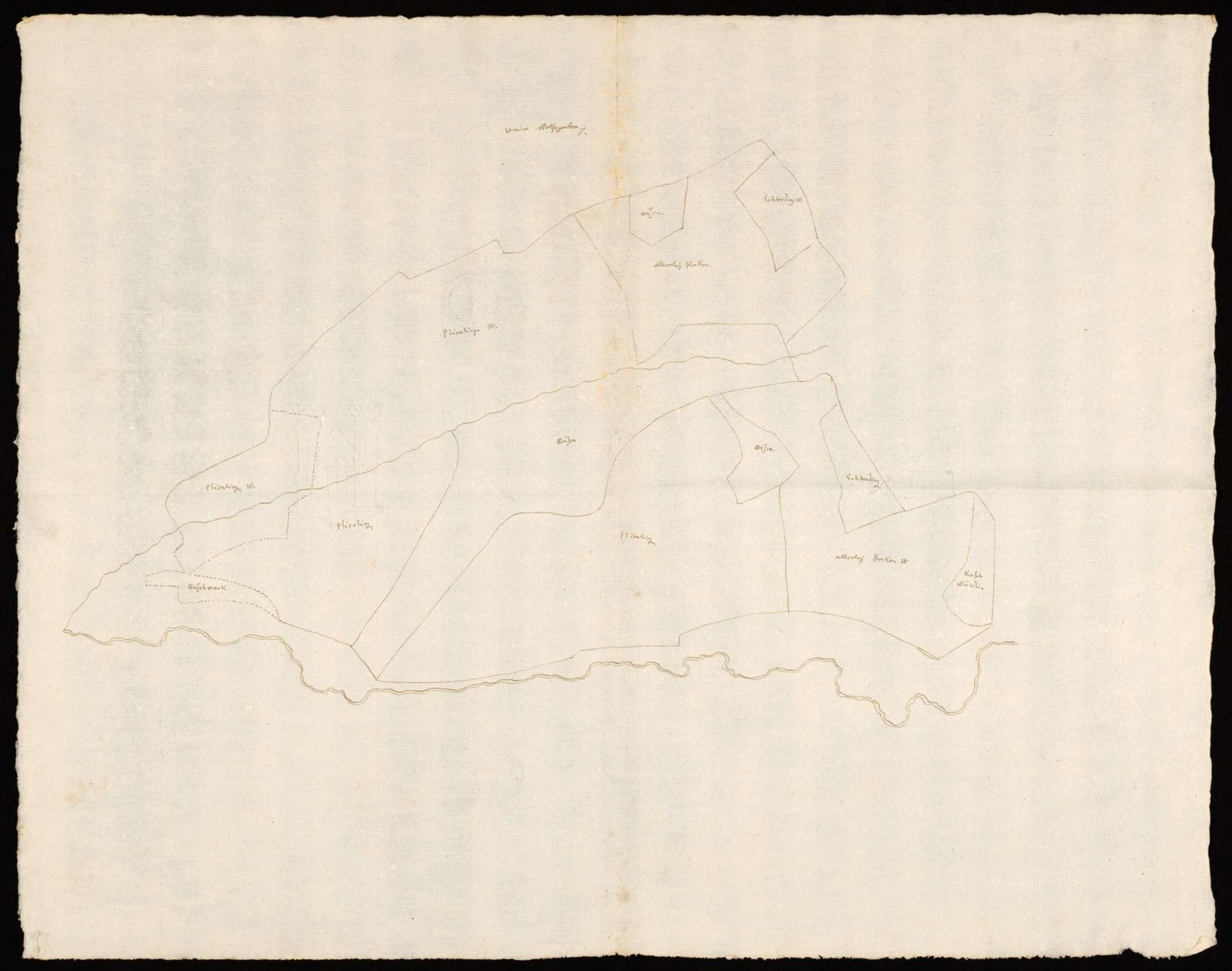 [Plan der Markung Unterer Wolfsgarten bei Stuttgart], Bild 1