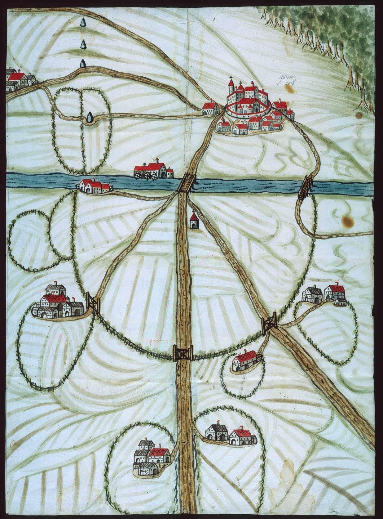 [Karte der Wildzäune bei Aulendorf], Bild 1