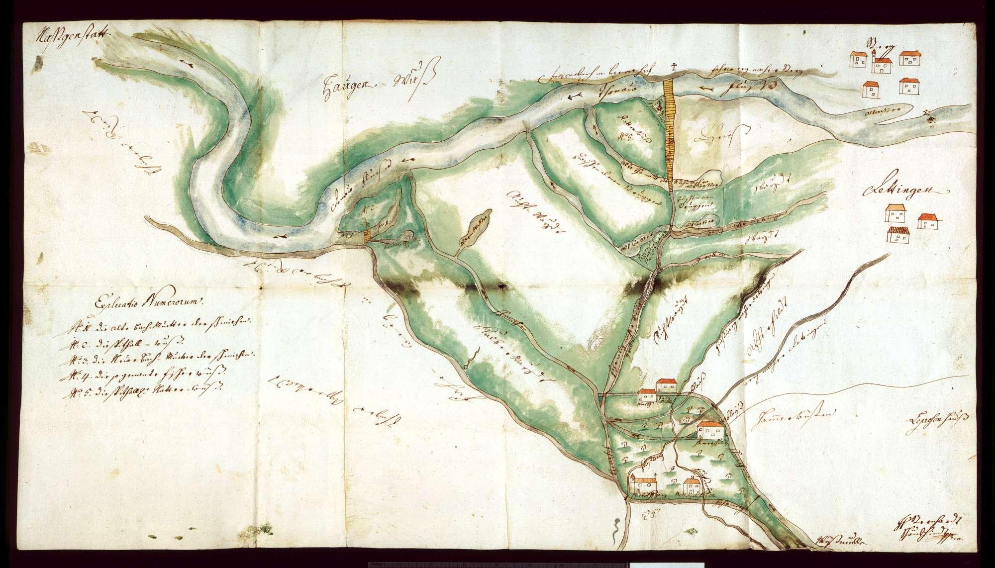 o. T. [Donauniederung zwischen Ehingen, Nasgenstadt, Berg und Dettingen], Bild 1