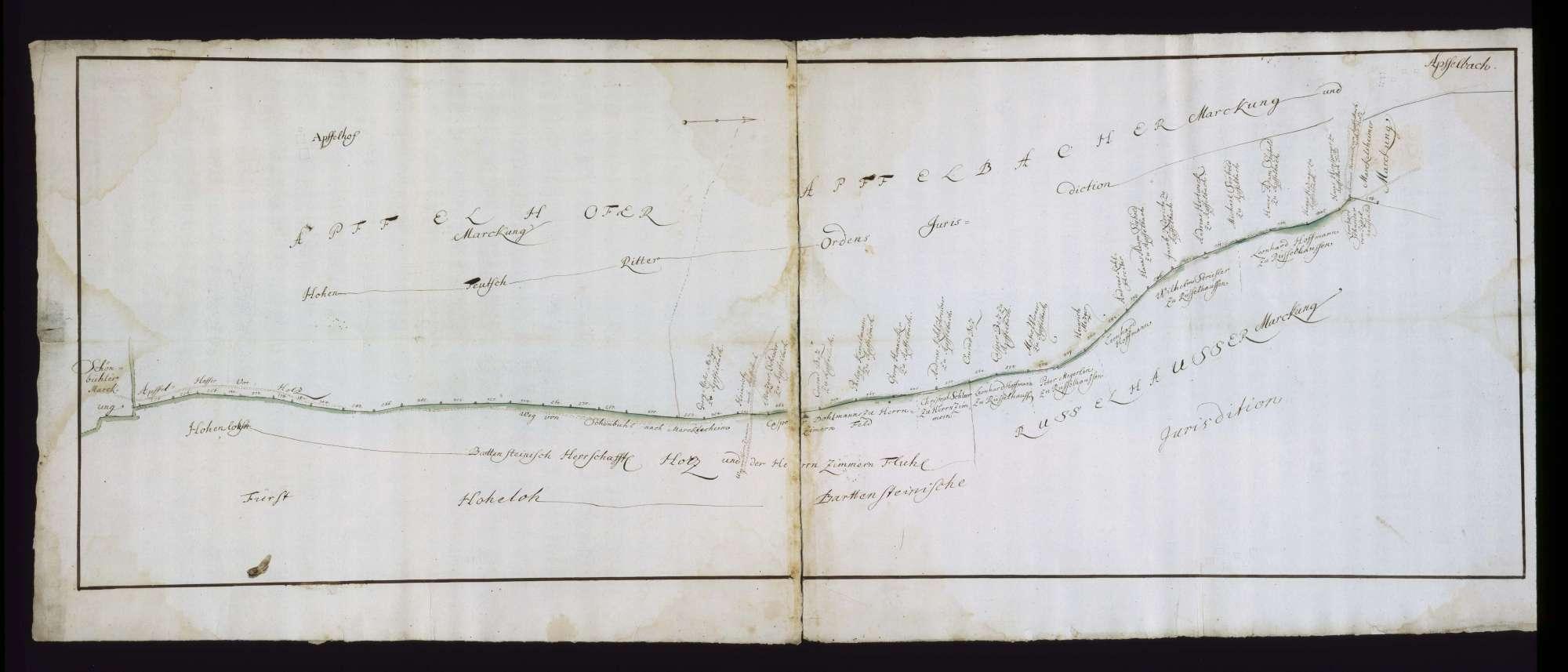 o. T. [Jurisdiktionsgrenzen des Deutschen Ordens zwischen Apfelbach und Apfelhof], Bild 1