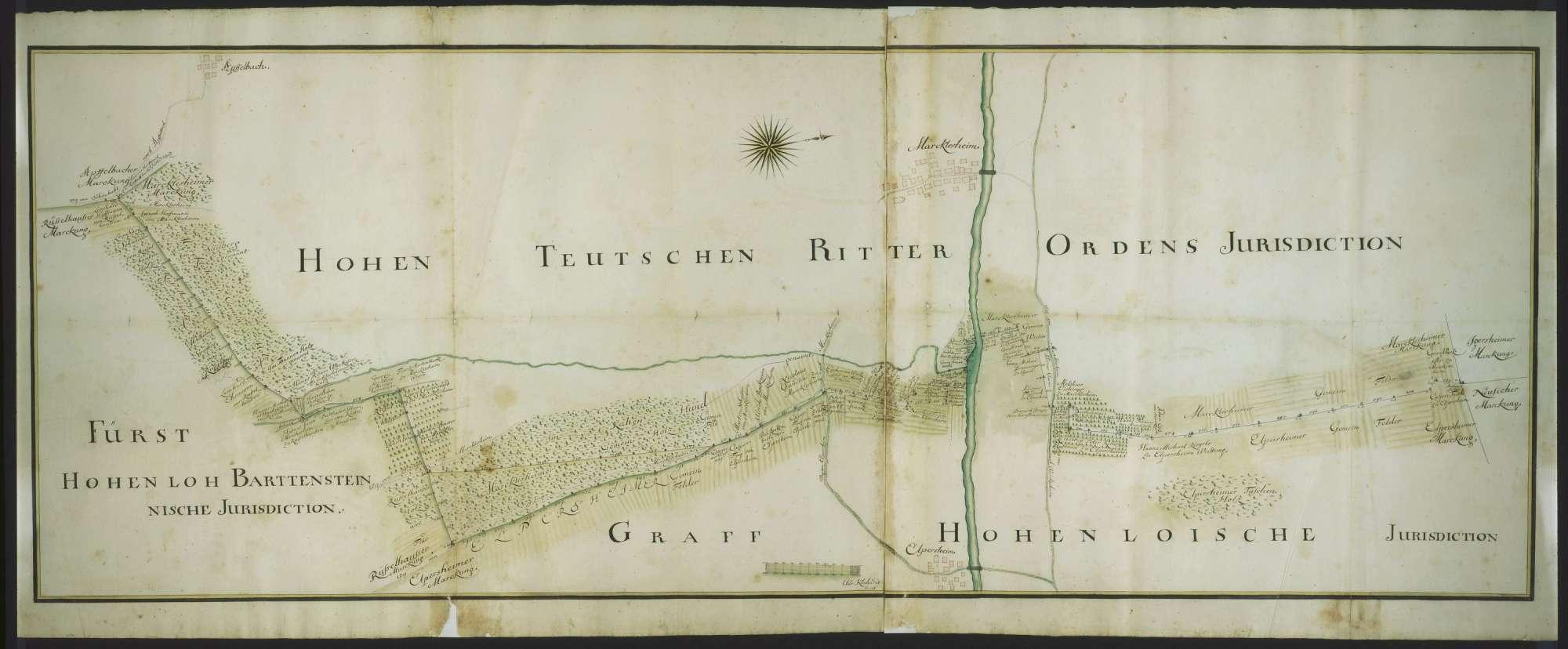 o. T. [Jurisdiktionsgrenze des Deutschen Ordens bei Elpersheim und Markelsheim], Bild 1
