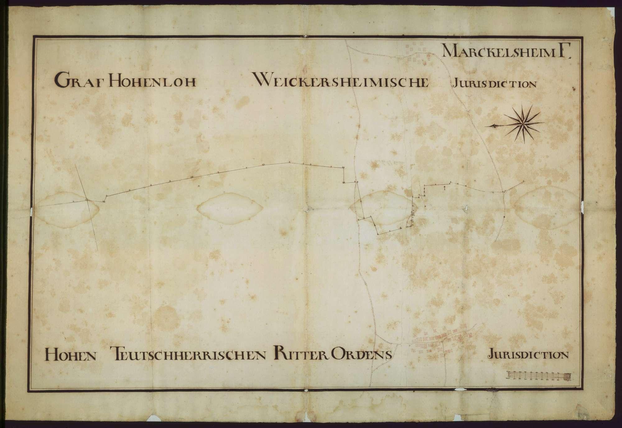 o. T. [Jurisdiktionsgrenzen des Deutschen Ordens bei Markelsheim], Bild 1