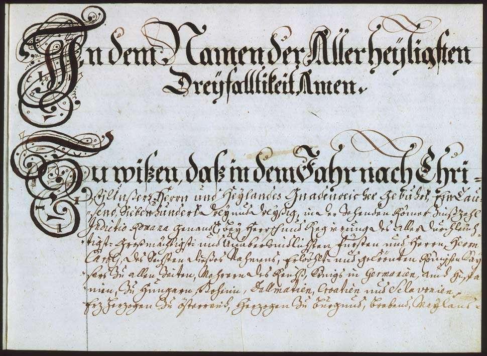 """""""Deizisau: Figurierte Graenzbeschreibung 1733"""" """"Deizisau: Figurierte Graenz- und Steinbeschreibung über solch ganze dem löbl(ichen) S(a)nct-Catharinae-Hospithal in Esslingen zugehörige Gemarckung"""", Bild 2"""