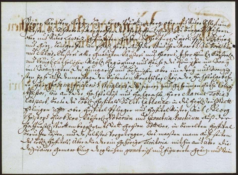 """""""Deizisau: Figurierte Graenzbeschreibung 1733"""" """"Deizisau: Figurierte Graenz- und Steinbeschreibung über solch ganze dem löbl(ichen) S(a)nct-Catharinae-Hospithal in Esslingen zugehörige Gemarckung"""", Bild 3"""