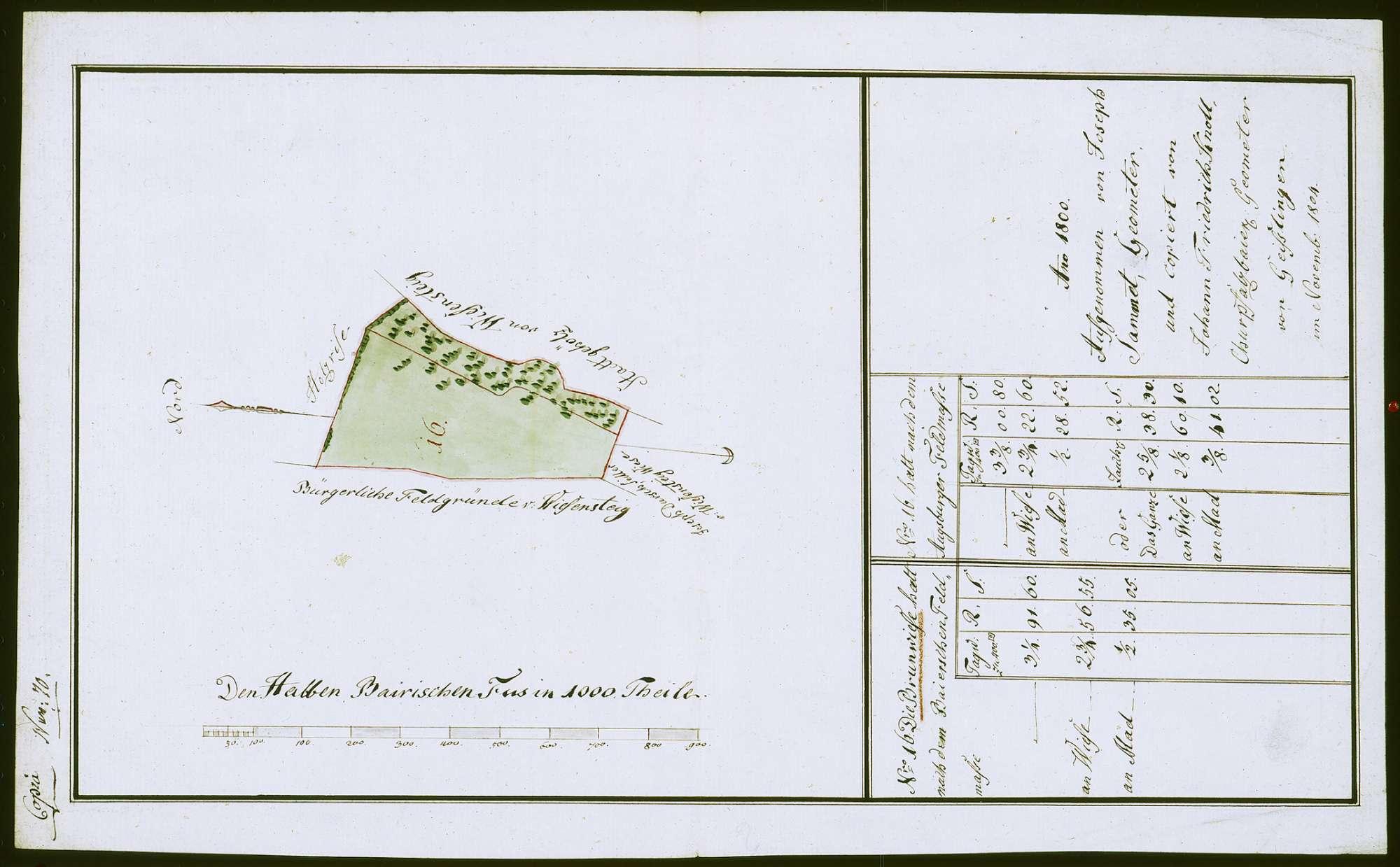 o. T. [Plan der Brunnenwiese], Bild 1