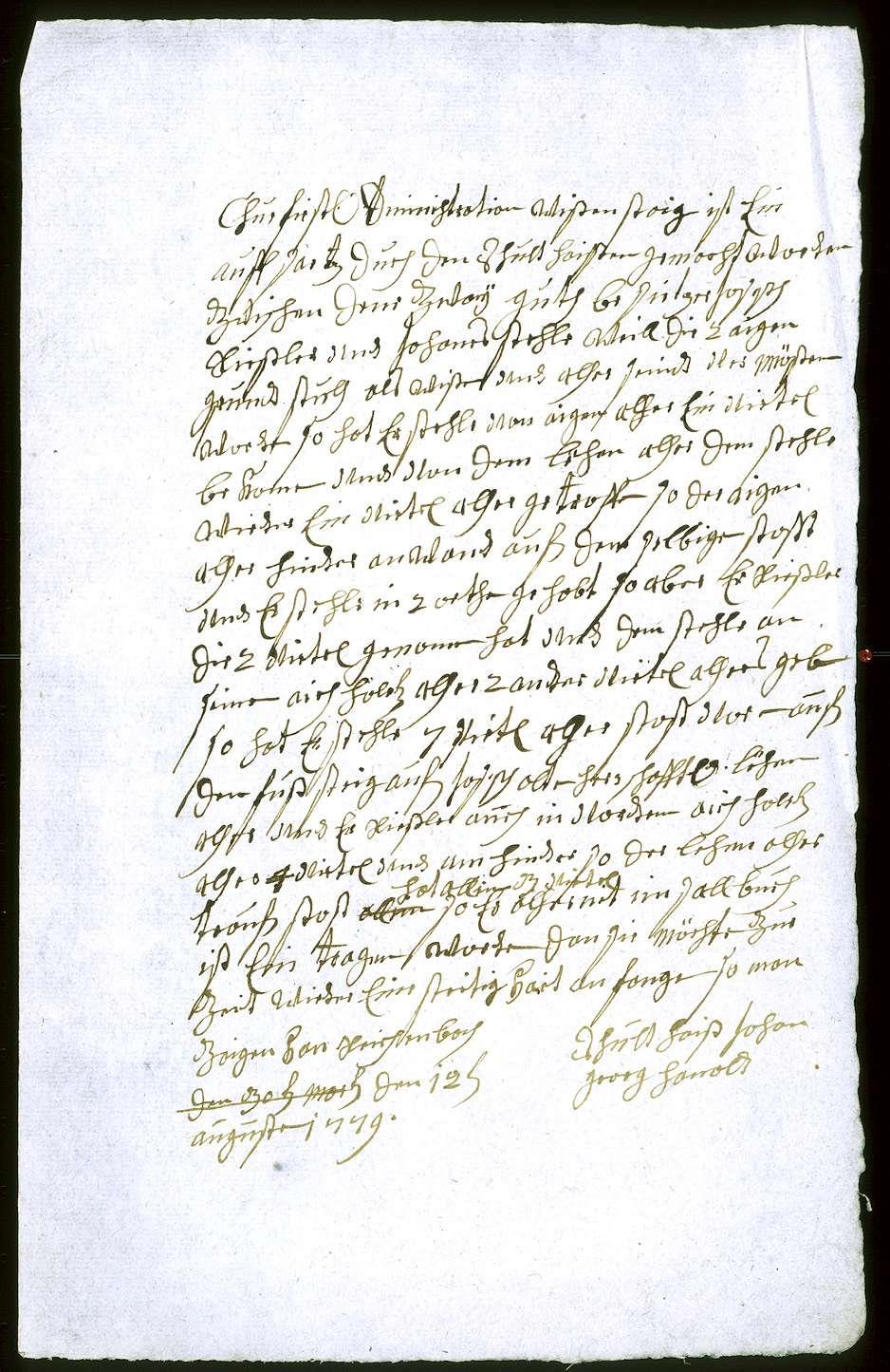 o. T. [Grundriss der zwischen Johannes Stehle und Joseph Rießler strittigen Wiese im Reichenbach], Bild 2