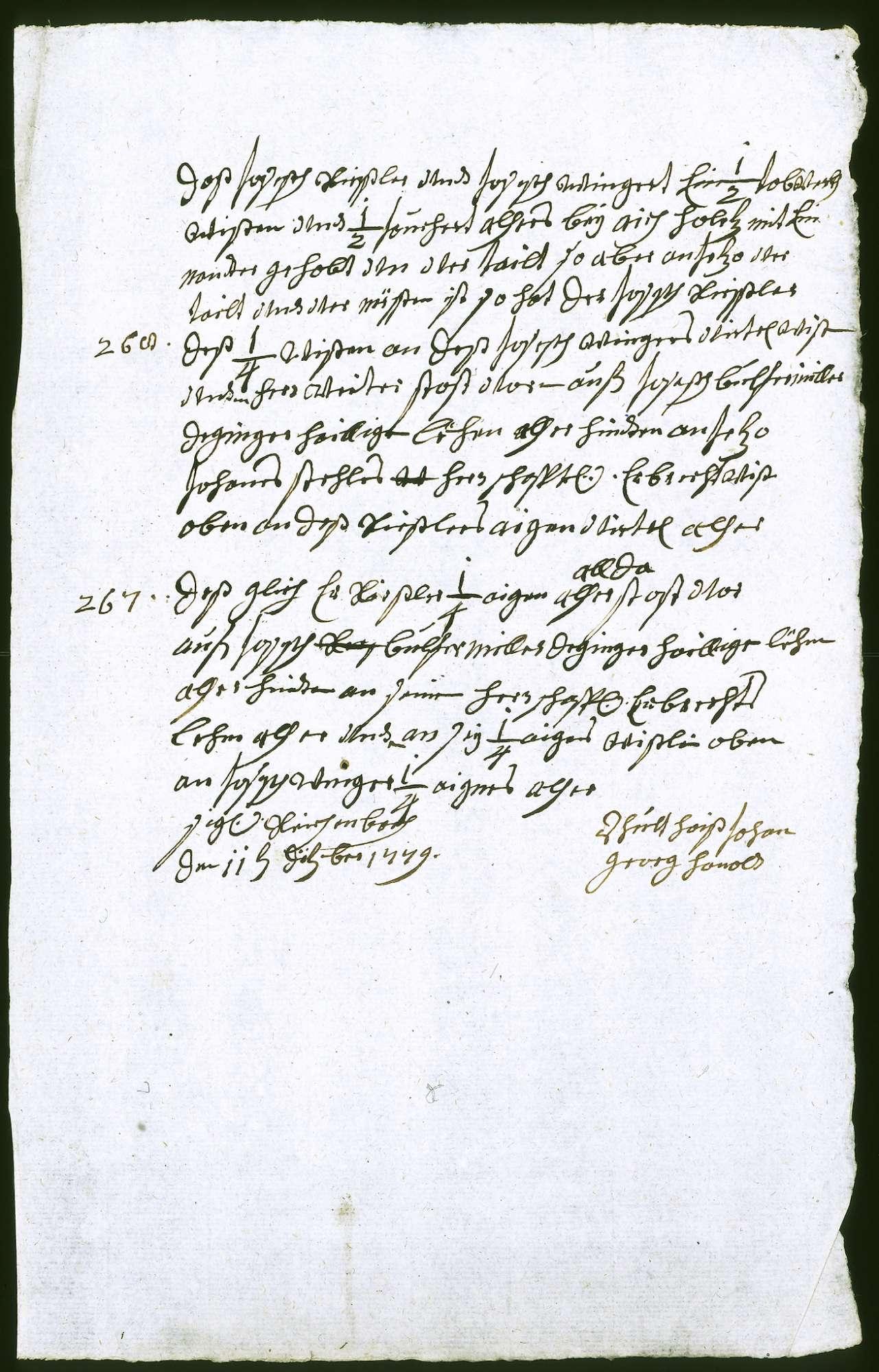 o. T. [Grundriss der zwischen Johannes Stehle und Joseph Rießler strittigen Wiese im Reichenbach], Bild 3