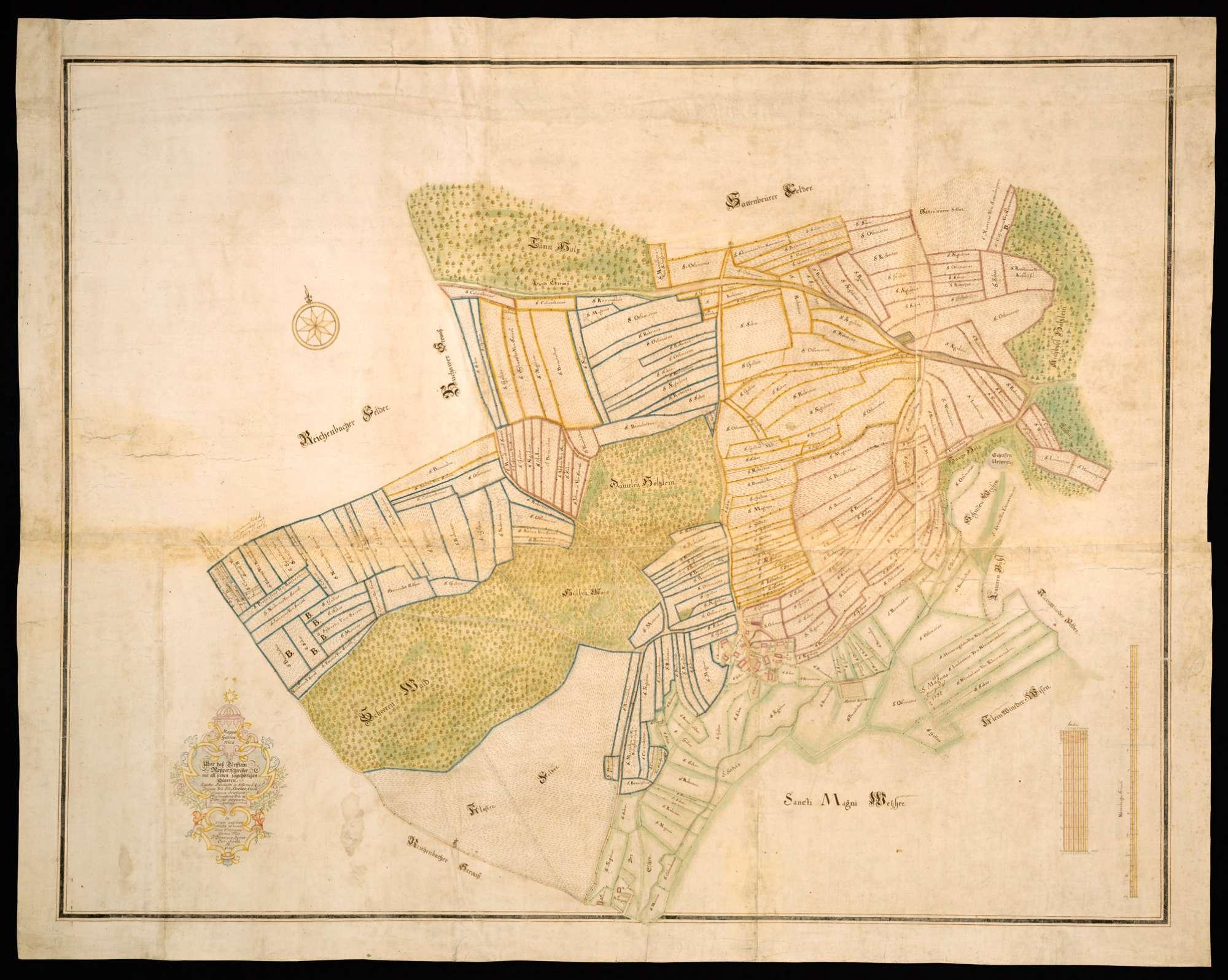 """Roppertsweiler """"Mappa Geometrica über daß Dörfflein Roppertschweiler mit all seinen zugehörigen Gütern"""", Bild 2"""
