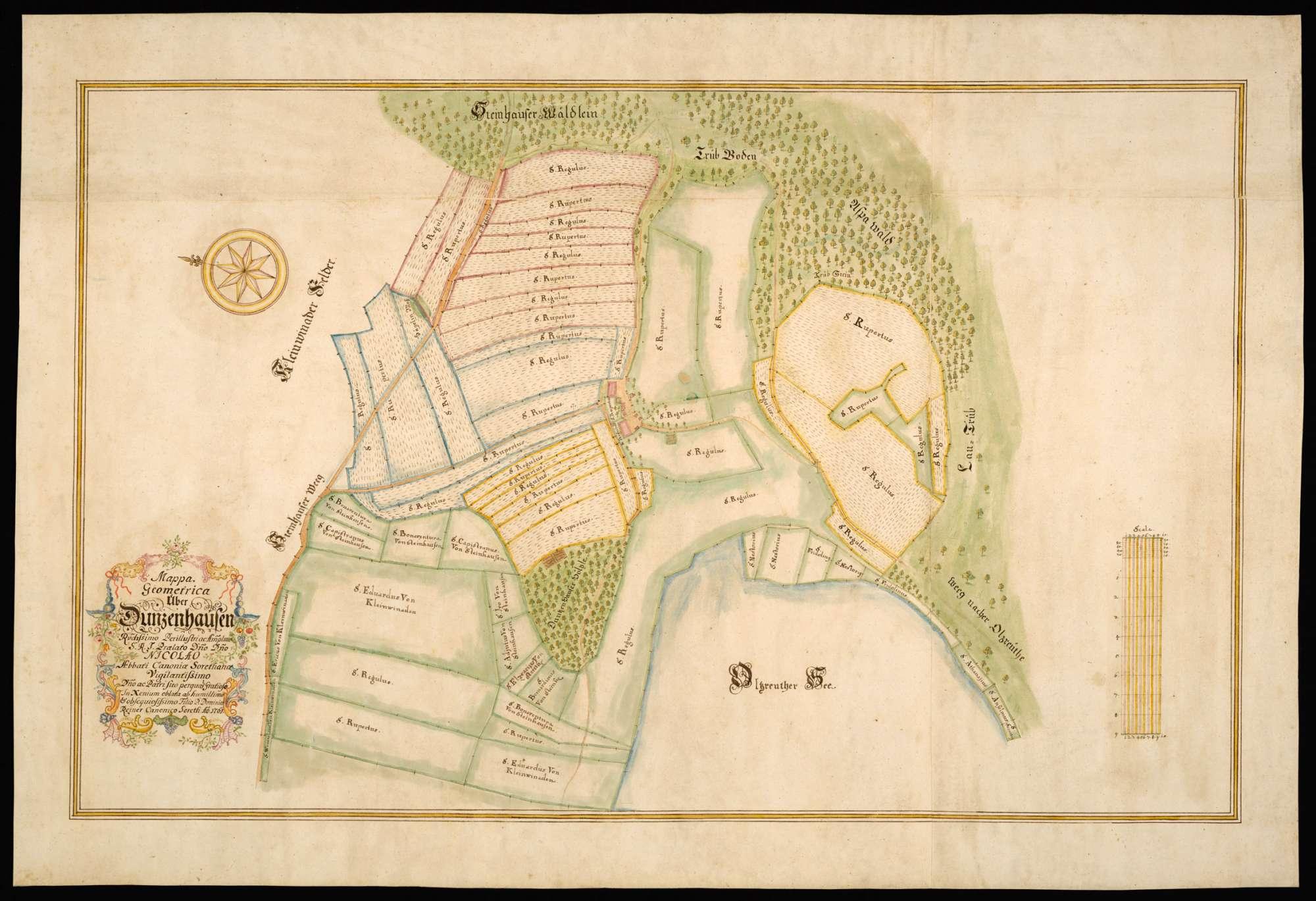 """Dunzenhausen """"Mappa Geometrica über Dunzenhausen"""", Bild 2"""