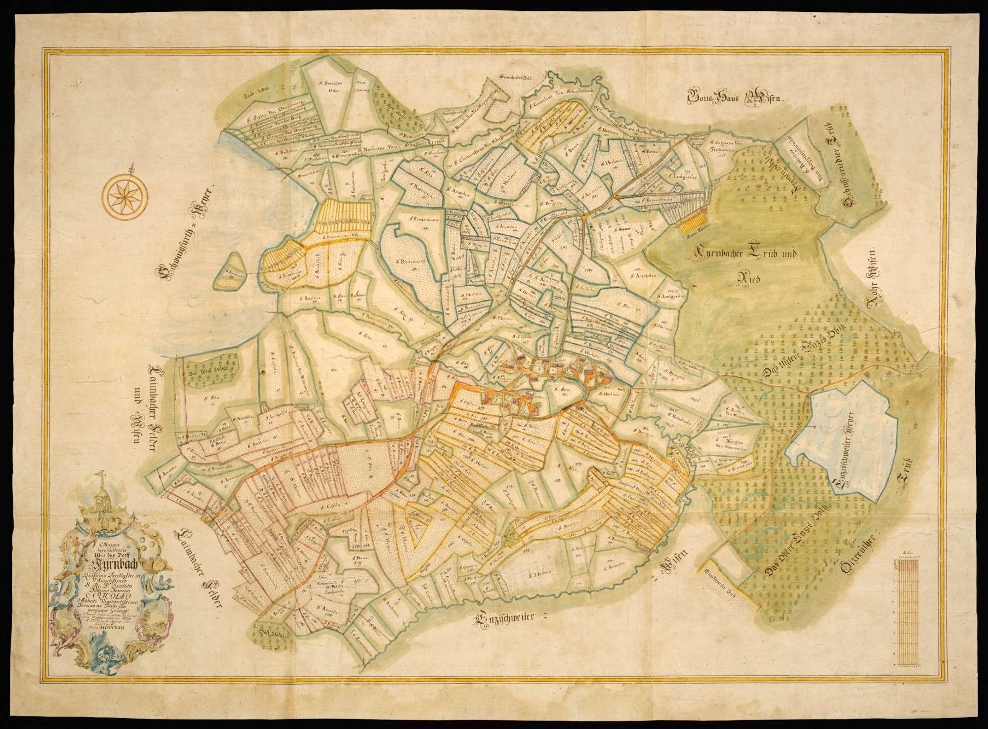 """Kürnbach """"Mappa Geometrica über das Dorf Kyrnbach..."""", Bild 2"""
