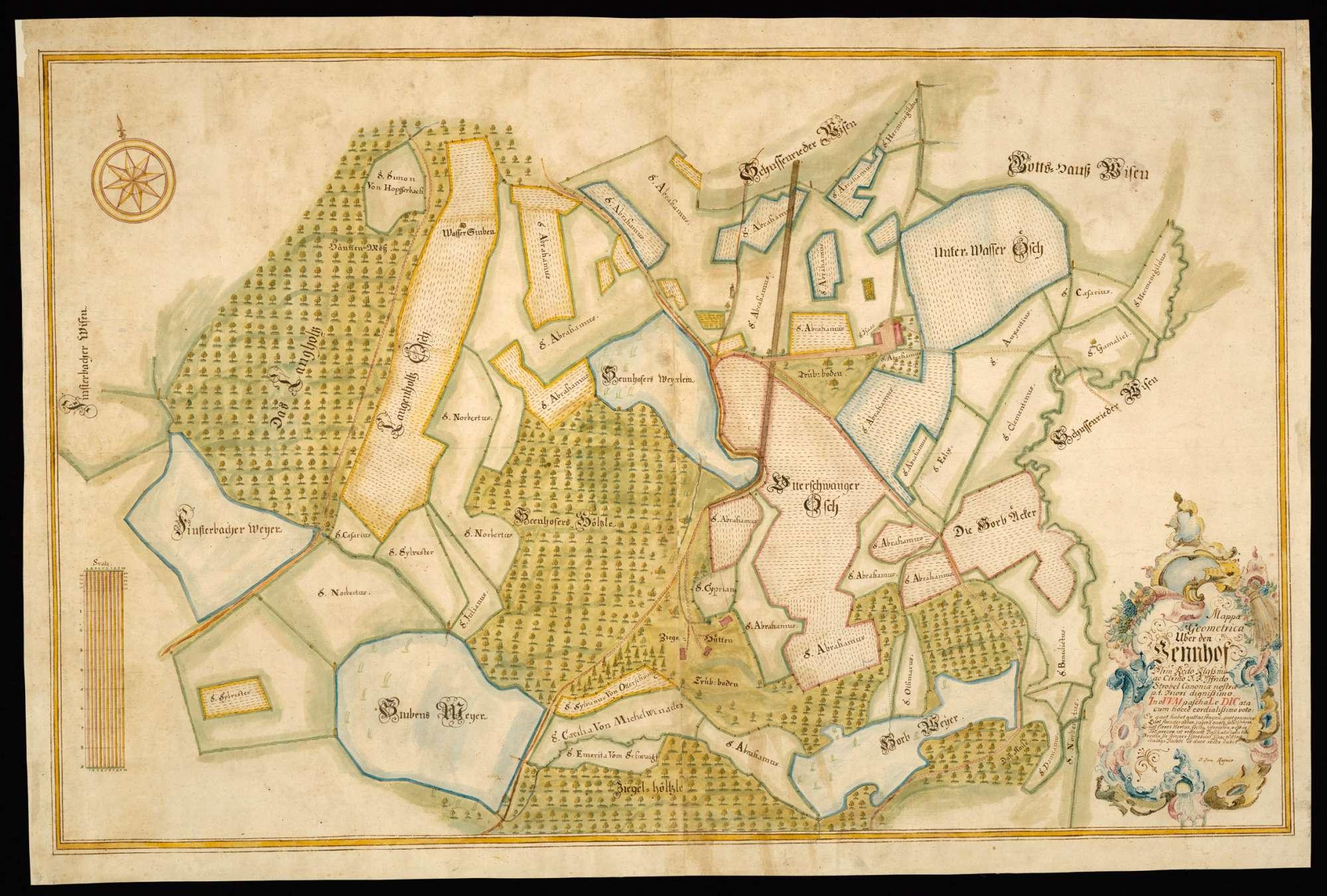 """Sennhof """"Mappa Geometrica über den Sennhof"""", Bild 2"""