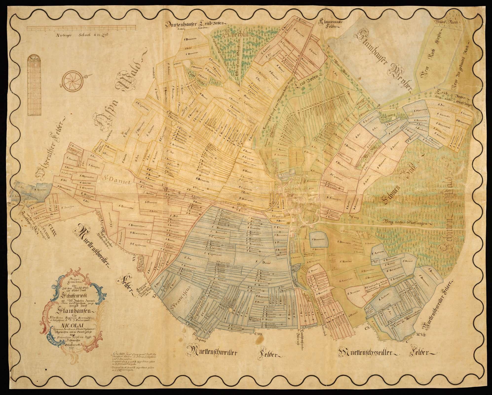 Steinhausen Mappa Geometrica über Das Dem Reichs Stift Und Gottes