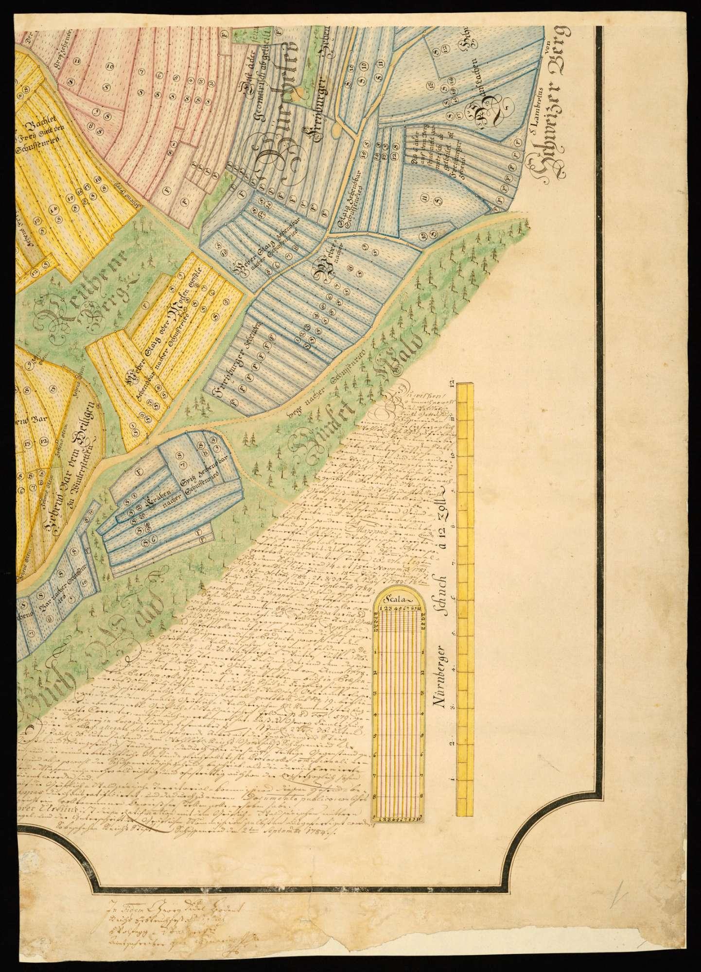 Winterstettenstadt [Geometrischer Grundriß von Winterstettenstadt und seiner Gemarkung] (Fragment), Bild 2
