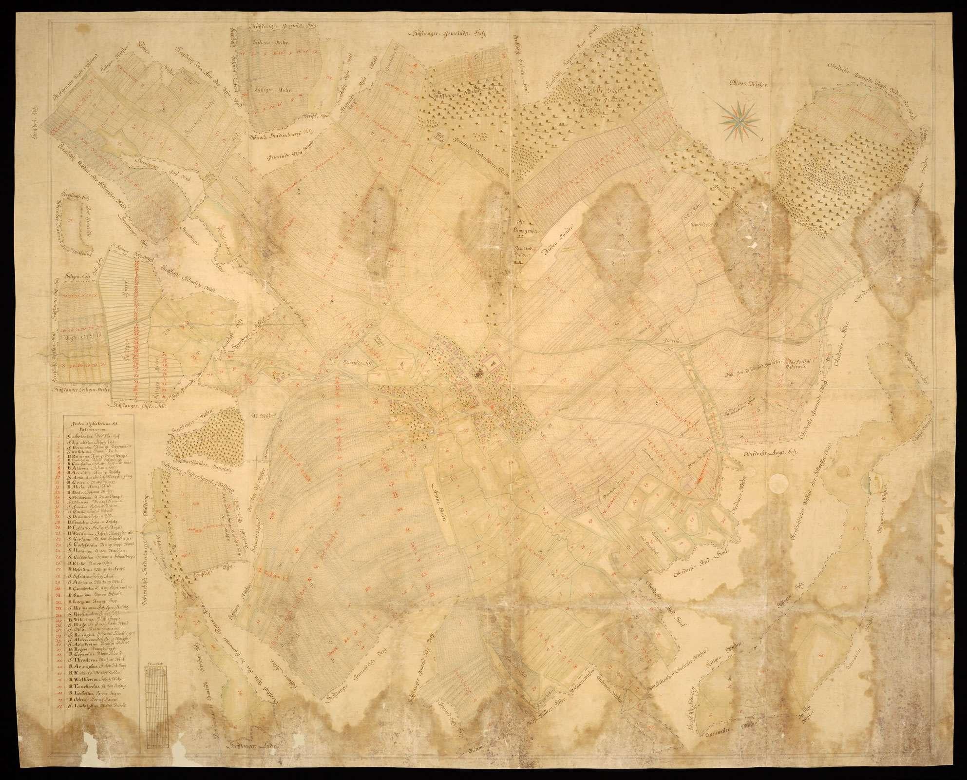 Stafflangen [Geometrischer Grundriß des Dorfes Stafflangen und seiner Markung], Bild 2