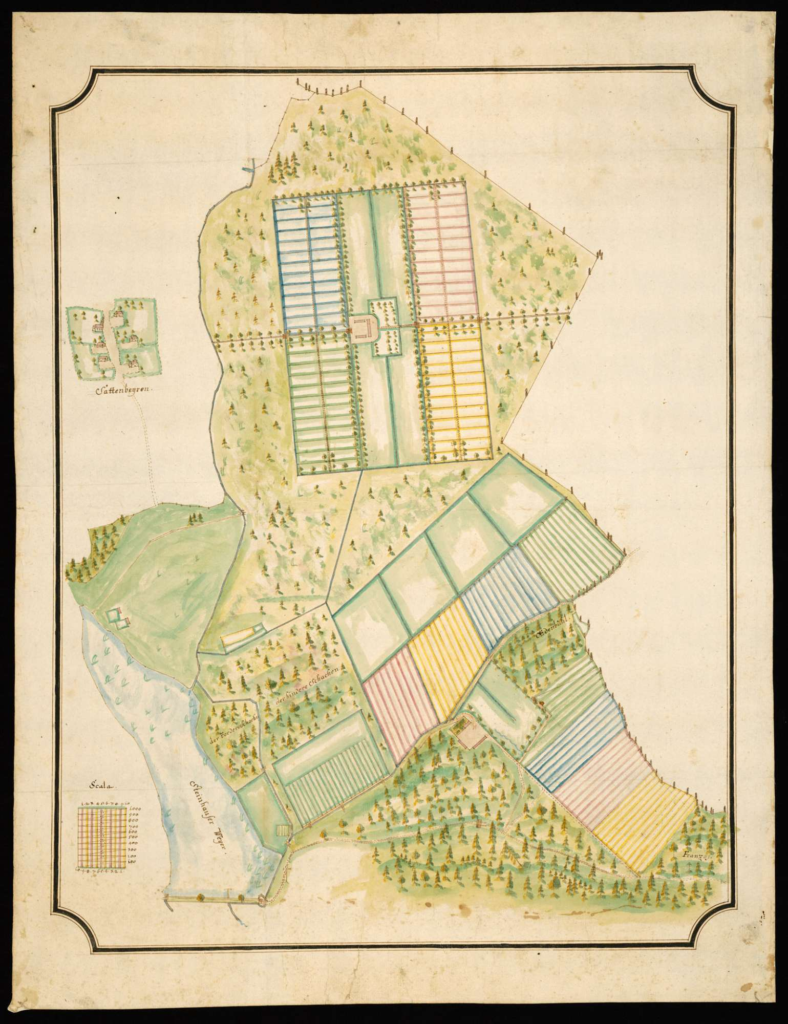 Steinhausen [Plan einer Hofanlage im Wilden oder Steinhauser Ried], Bild 2