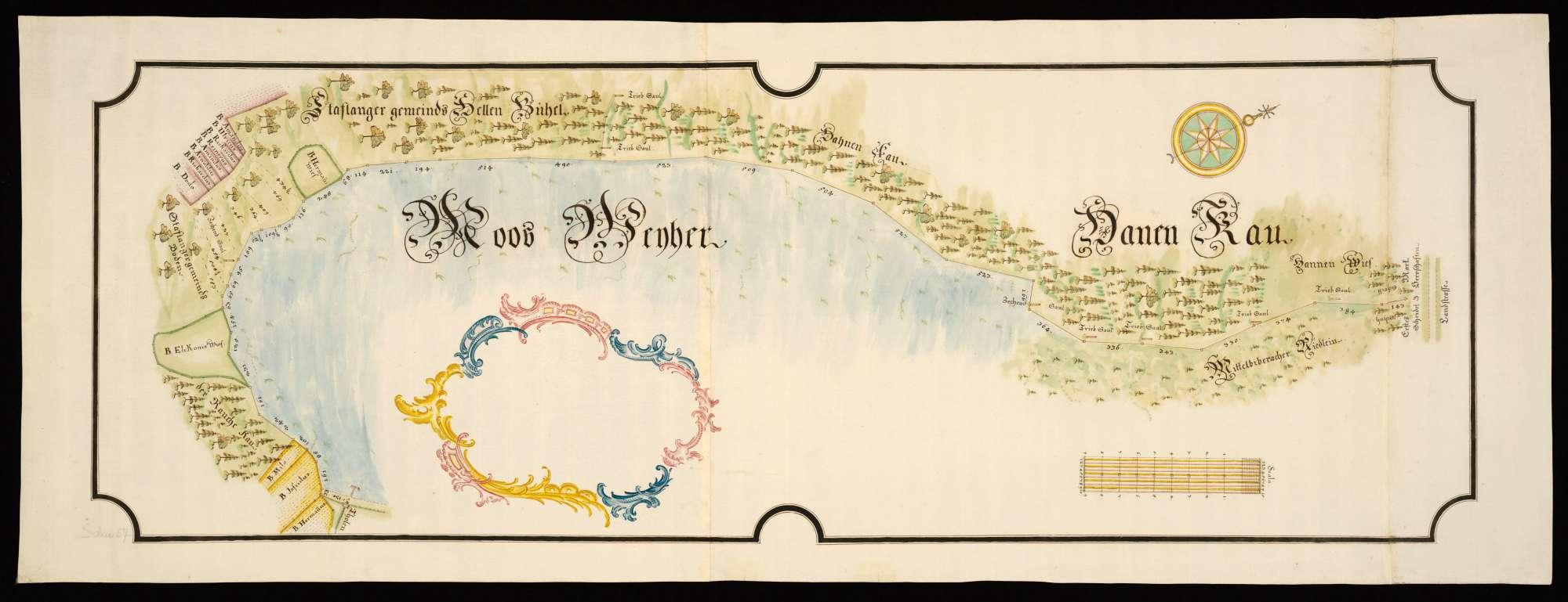 Stafflangen [Karte der Grenz-, Trieb- und Jurisdiktionsverhältnisse am Moosweiher bei Stafflangen], Bild 2