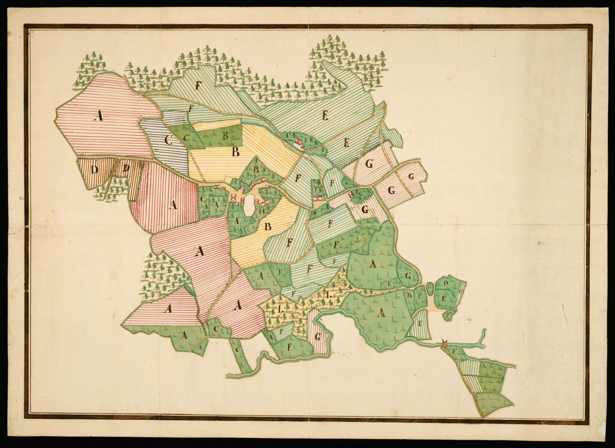 """Berg, Dietzelshof [=Dietenhofen], Creutzer (Kreuzer) 1772 [Rückseitentitel]"", Bild 1"