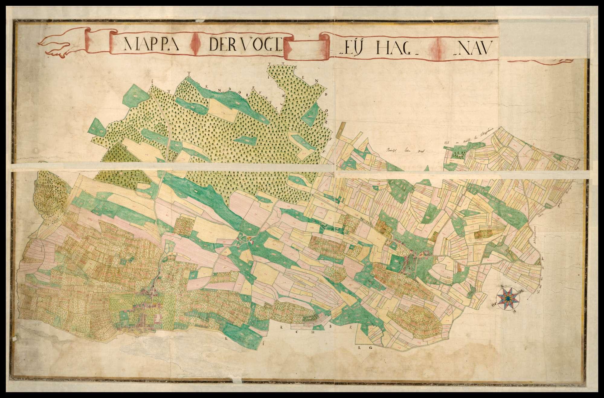 """""""Mappa der Vogtei Hagnau"""", Bild 2"""