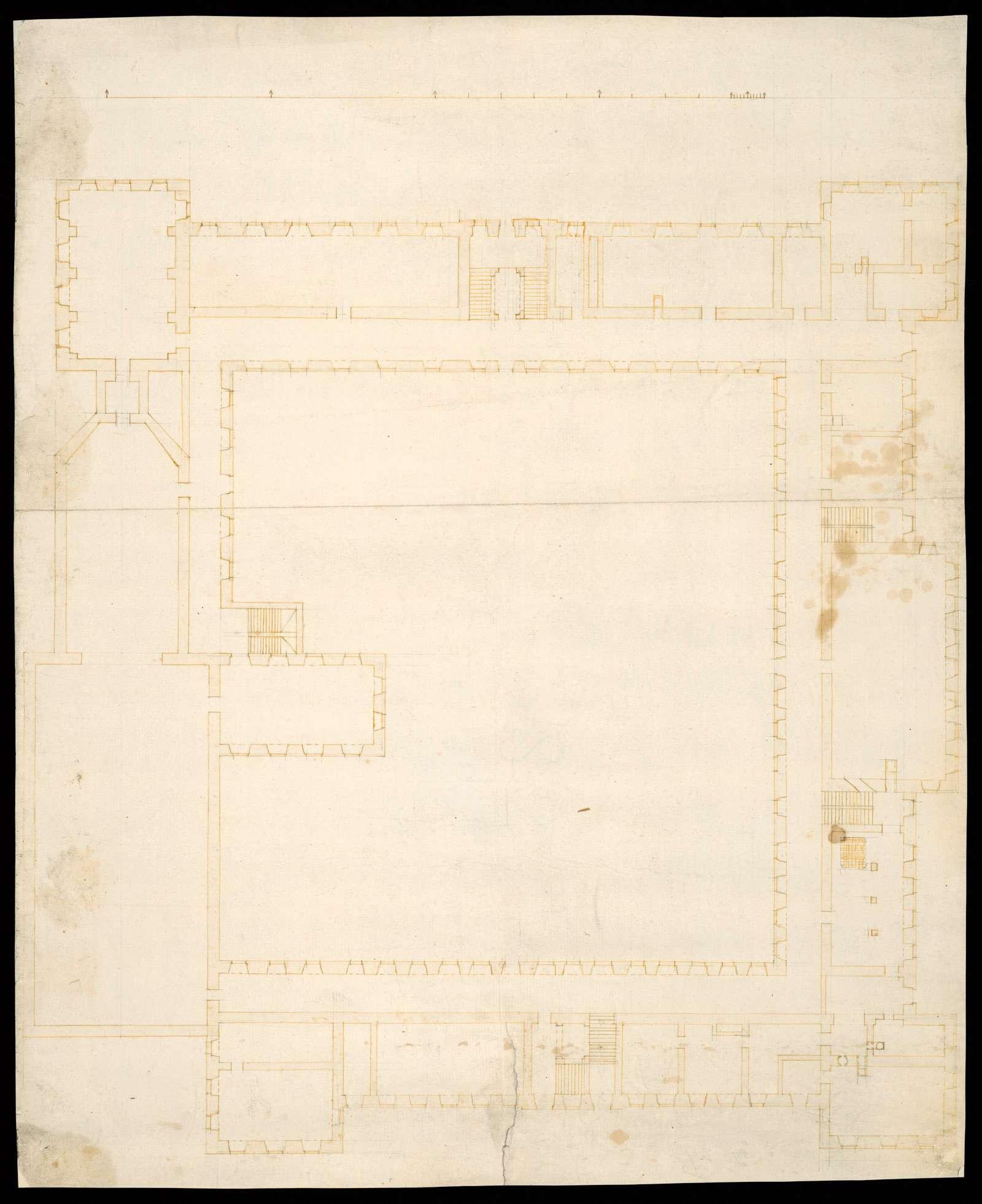 Weißenau: Eschach, Stadt Ravensburg, Lkr. Ravensburg o. T. [Grundrisse der geplanten Konventsgebäude von Weißenau], Bild 1