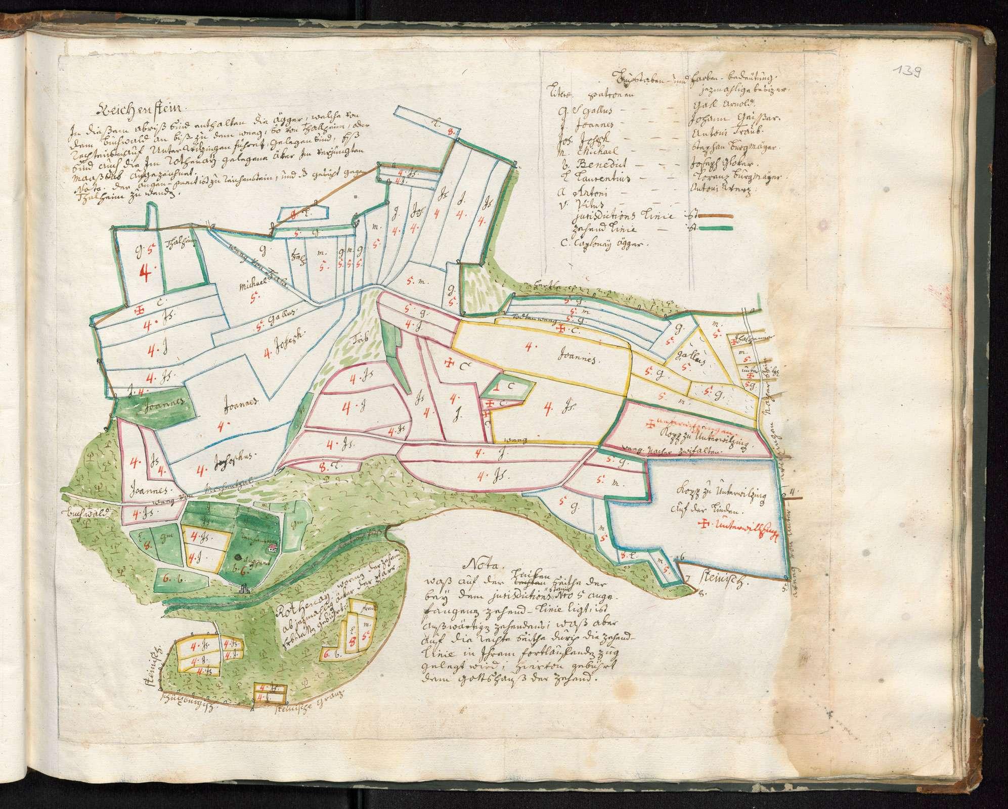 Zwiefalten, Orte des Klosterterritoriums, Reichenstein, mit speziellen Blättern betr., Bild 2