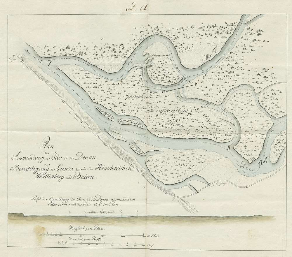 Besitznahme einzelner näher beschriebener von Bayern abgetretener Gebiete durch Württemberg, Bild 1