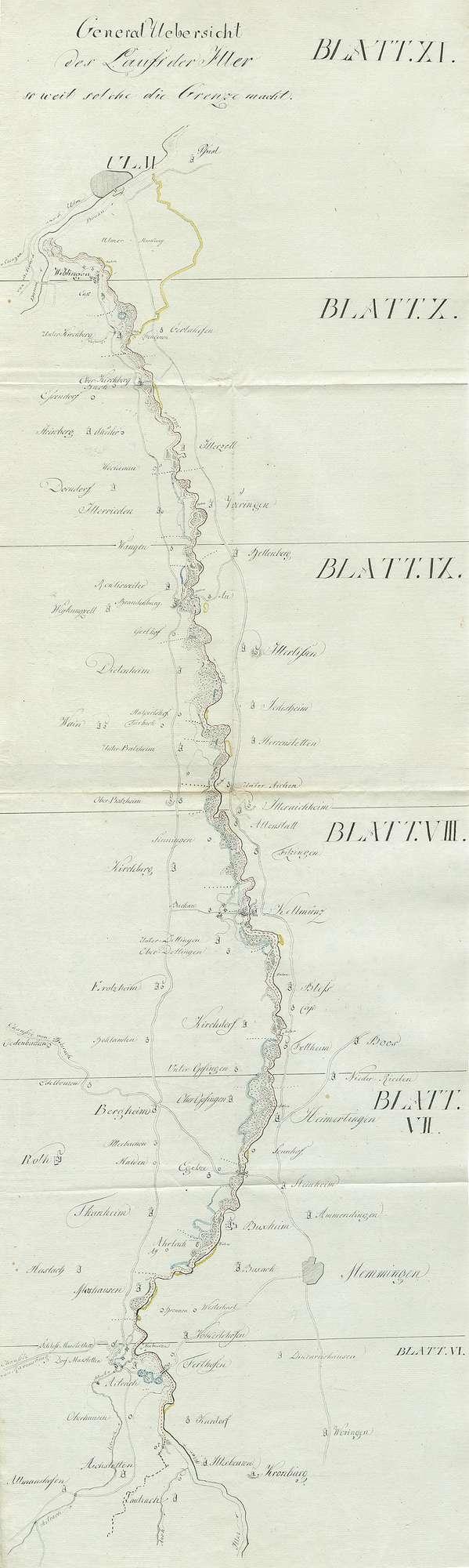 Besitznahme einzelner näher beschriebener von Bayern abgetretener Gebiete durch Württemberg, Bild 2