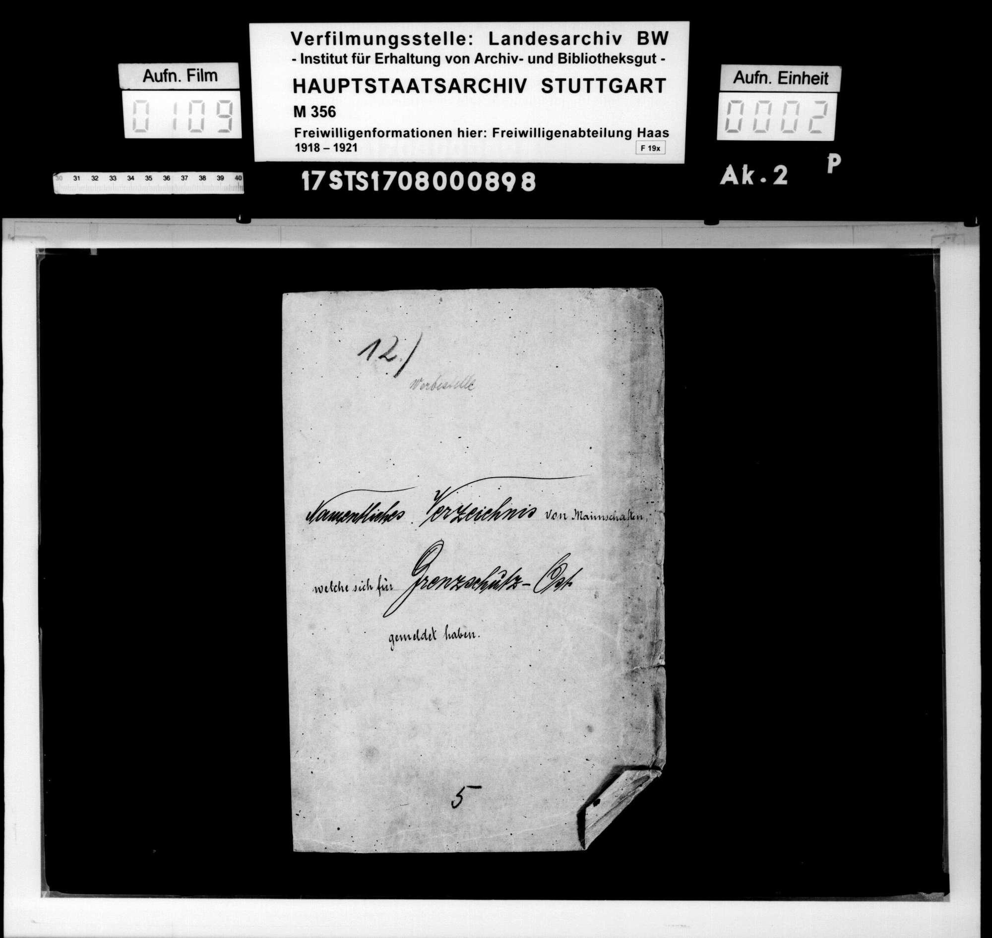"""Aufnahme von Mannschaften für den """"Grenzschutz Ost"""", Bild 1"""