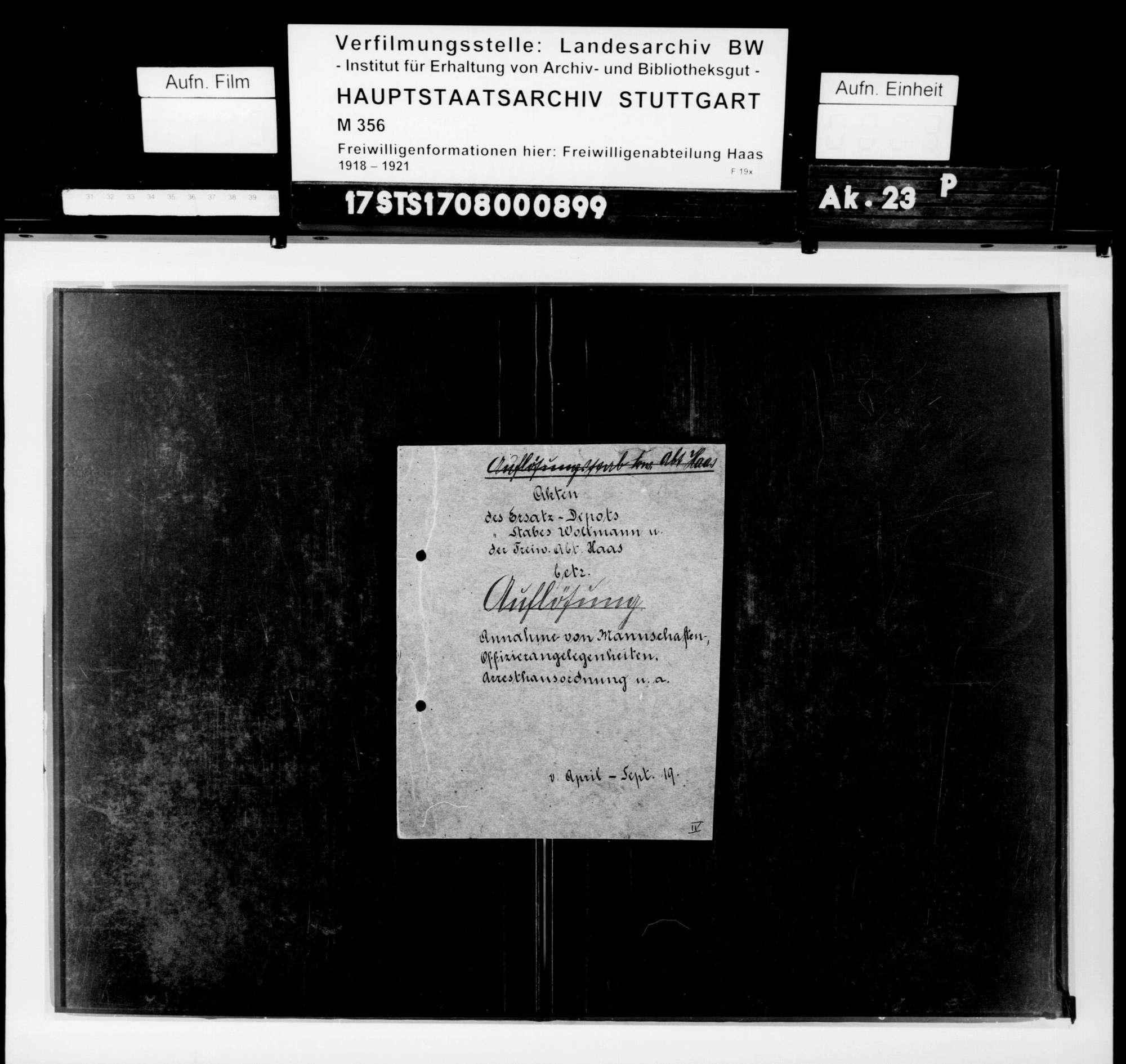 Verwaltungsangelegenheiten, Bild 1