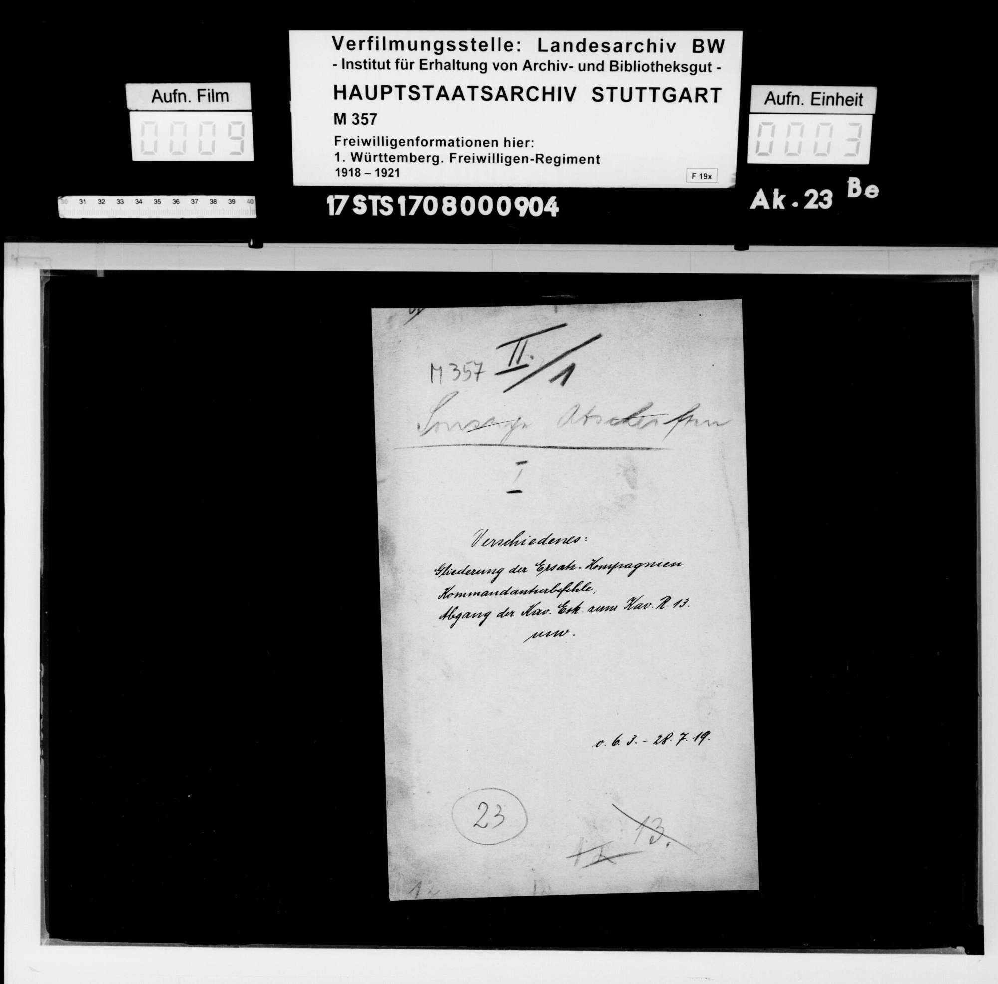 Verschiedene Angelegenheiten des II. Bataillons, Bild 1